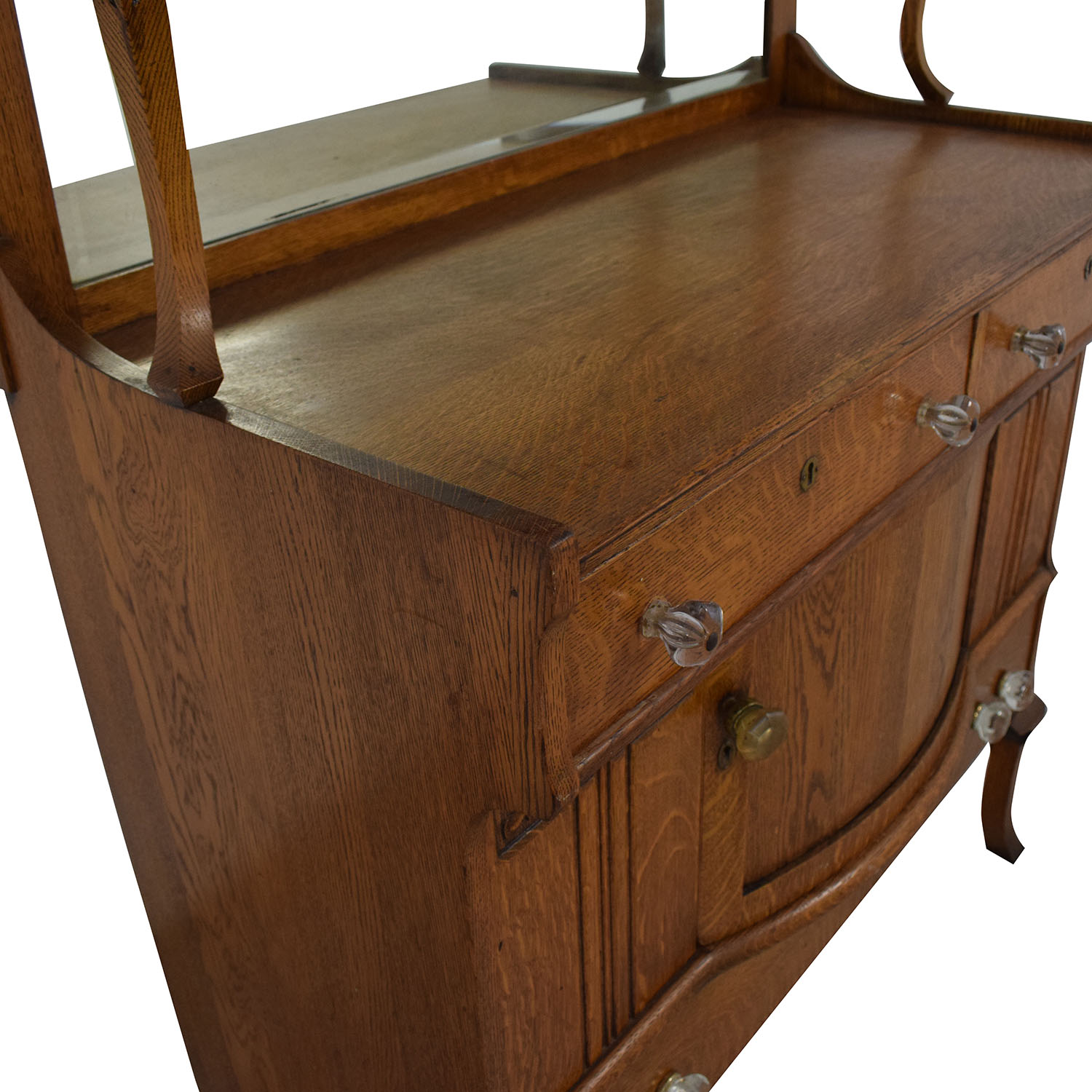 buy  Antique Buffet Cabinet With Mirror online