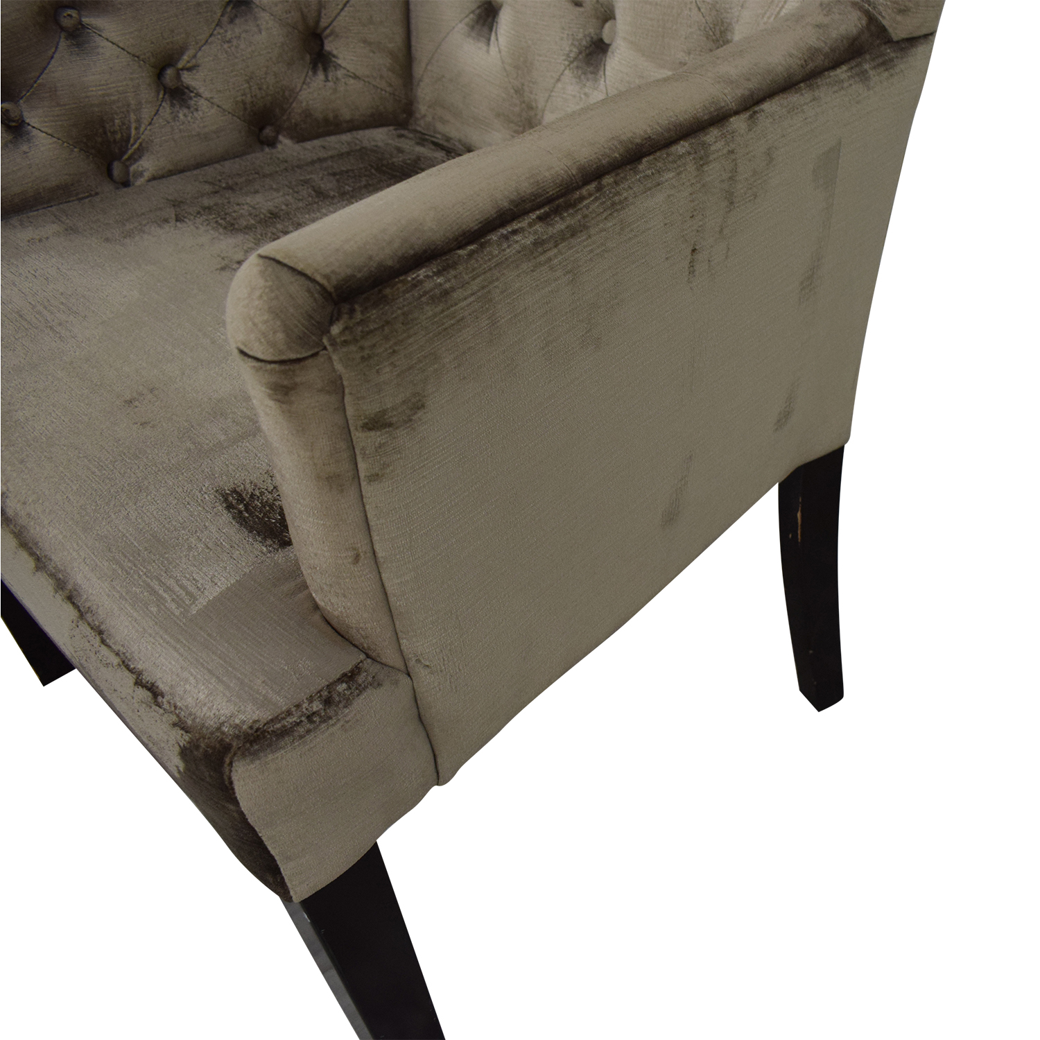 Z Gallerie Z Gallerie Gold Tufted Armchair second hand