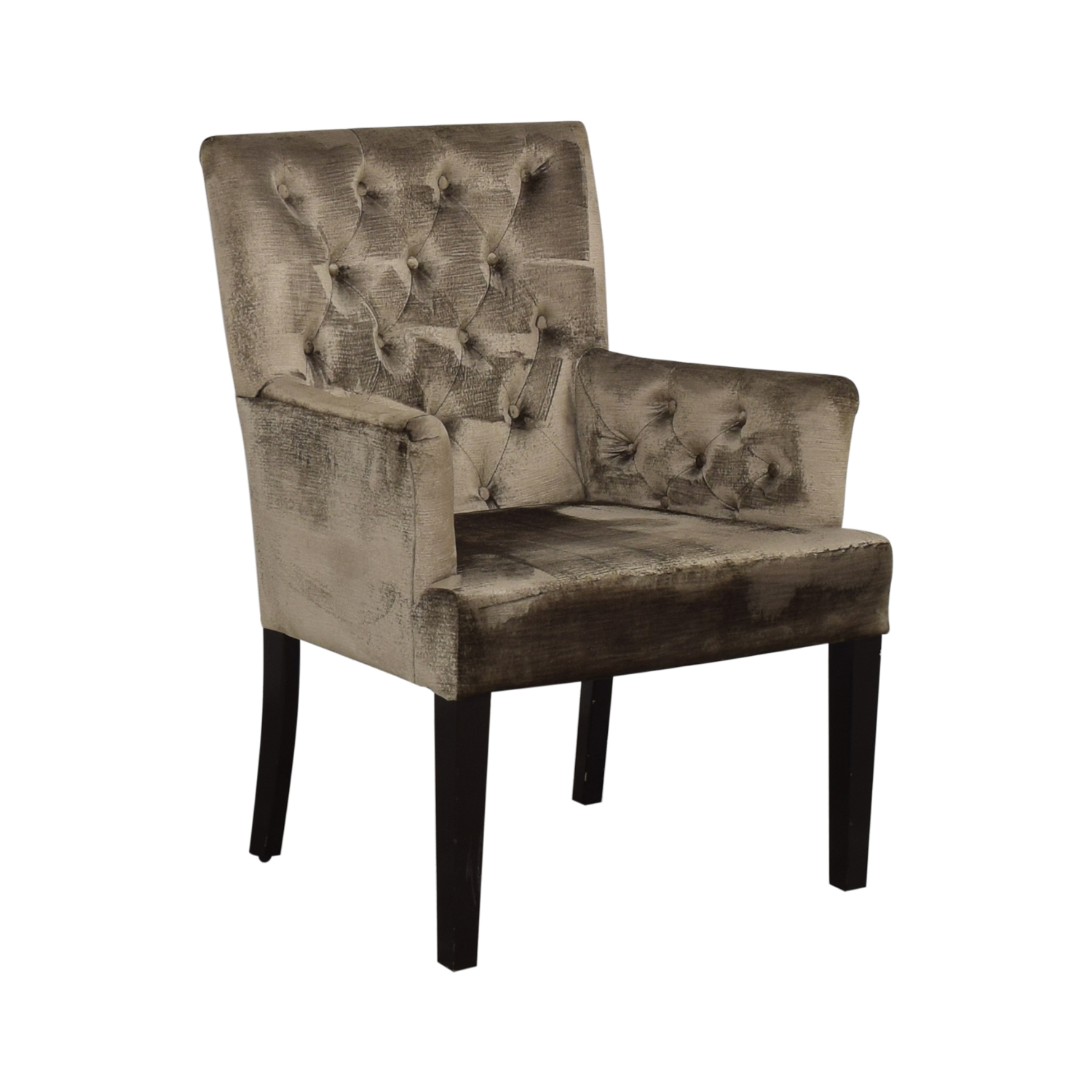 Z Gallerie Z Gallerie Gold Tufted Armchair Accent Chairs