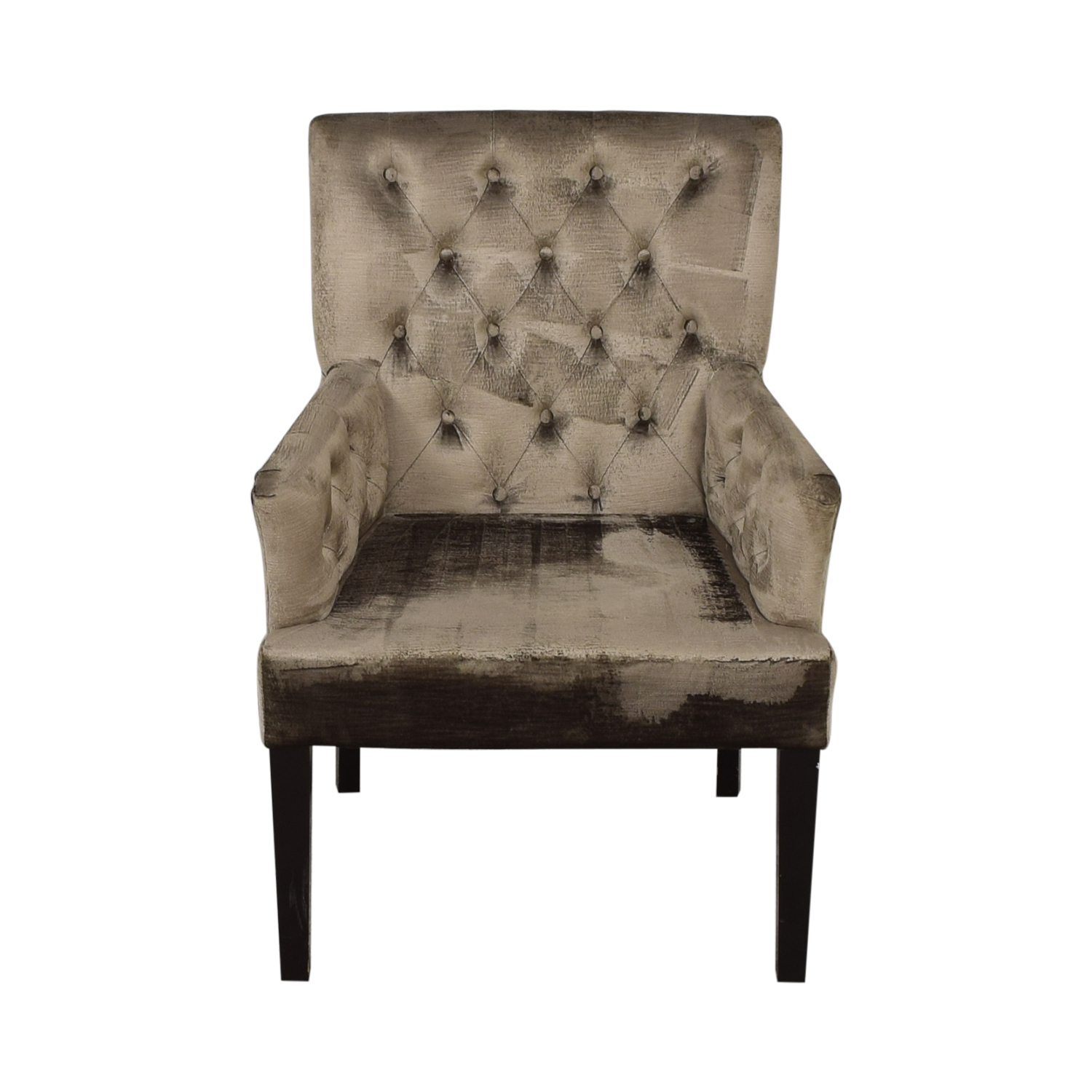 buy Z Gallerie Gold Tufted Armchair Z Gallerie Accent Chairs