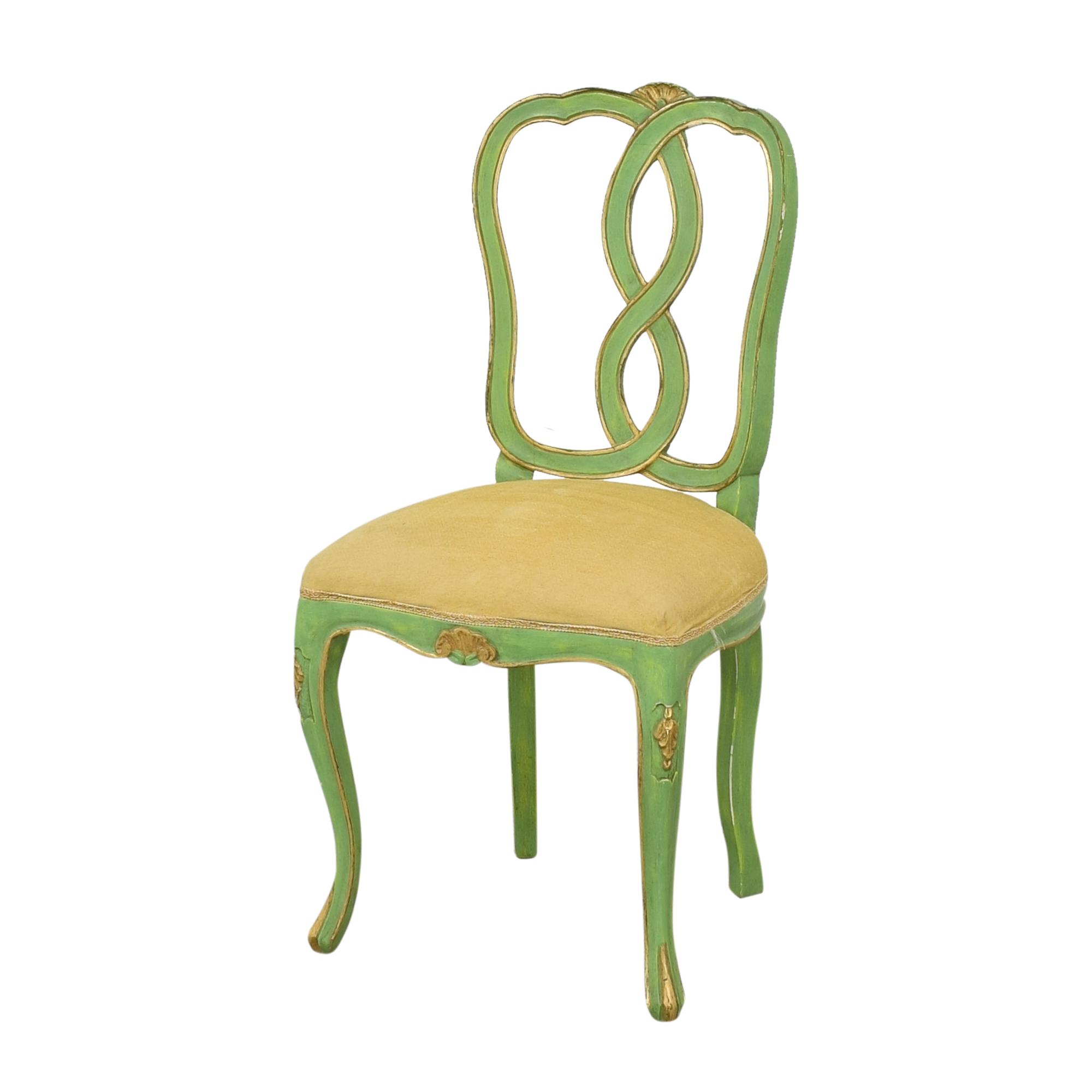 Bergdorf Goodman Bergdorf Goodman Green and Gold Chairs nj