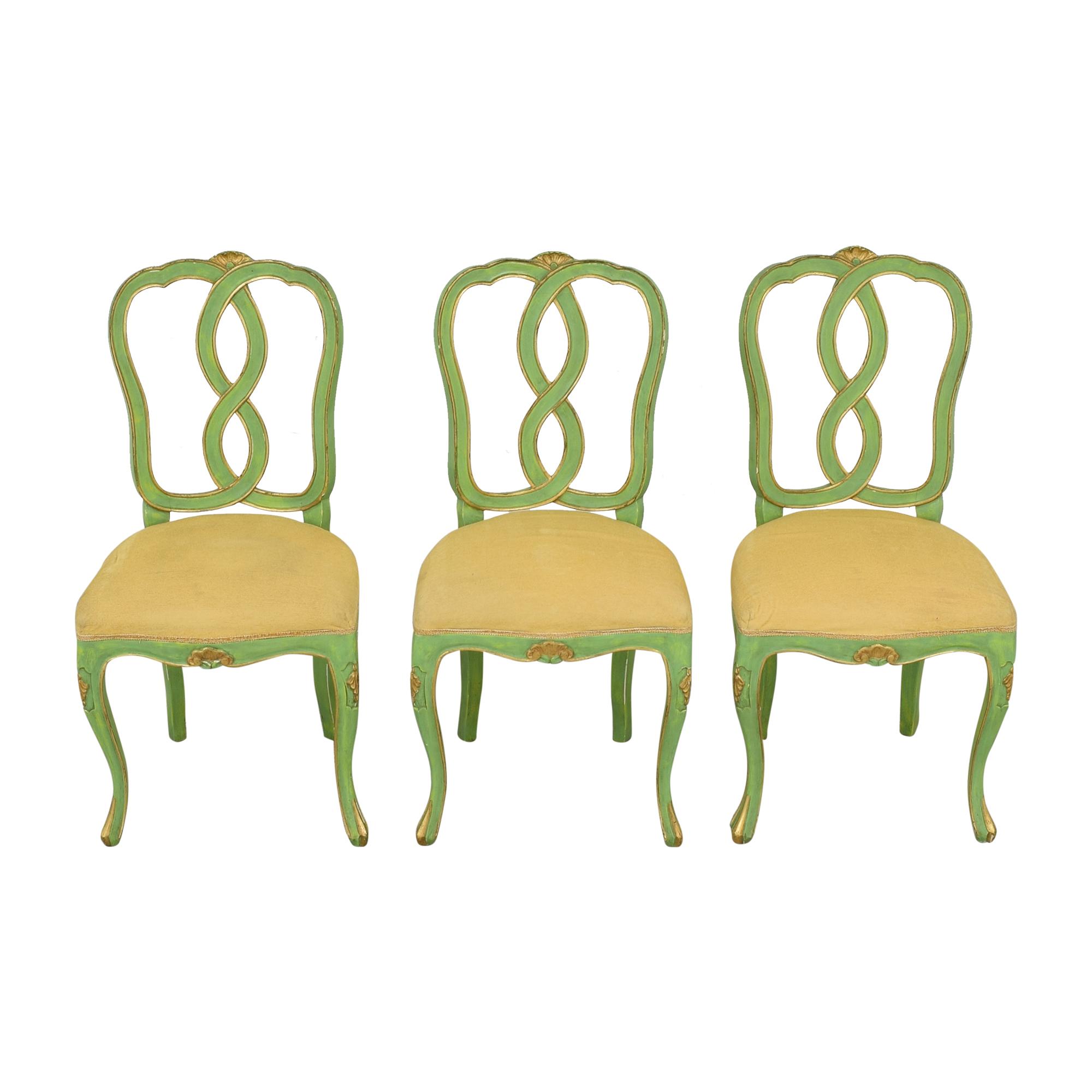 buy Bergdorf Goodman Green and Gold Chairs Bergdorf Goodman Chairs