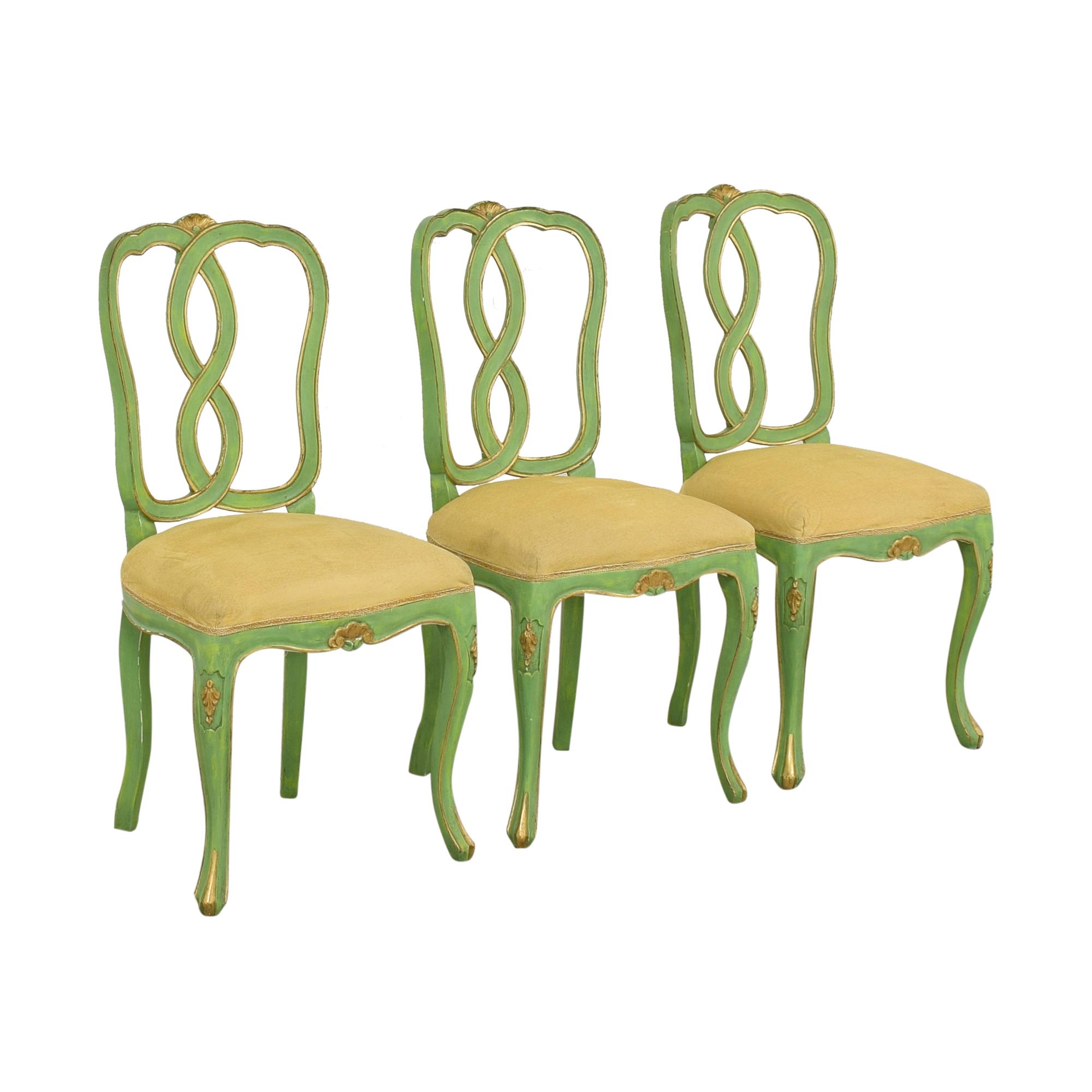Bergdorf Goodman Bergdorf Goodman Green and Gold Chairs nyc