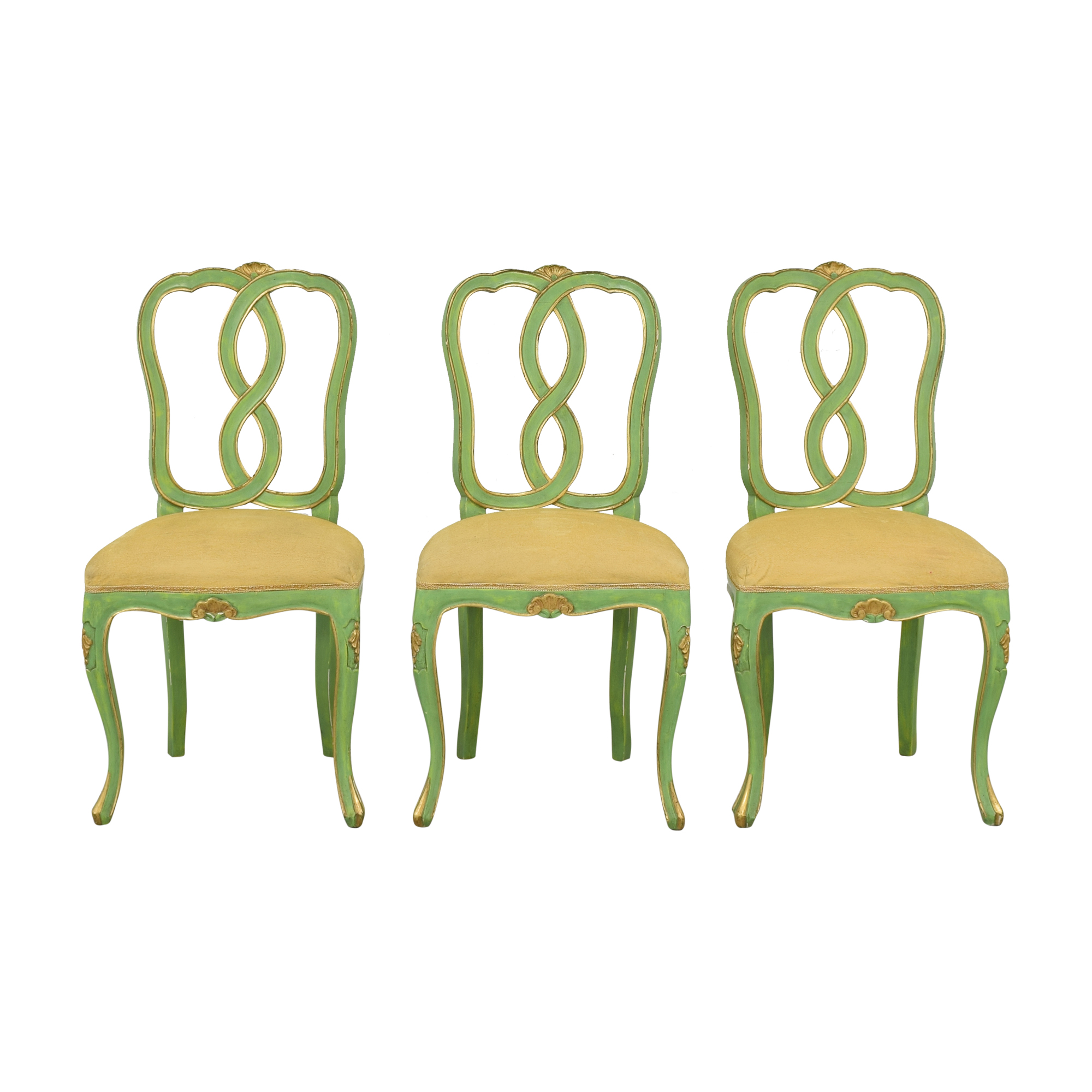 buy Bergdorf Goodman Green and Gold Chairs Bergdorf Goodman Chairs