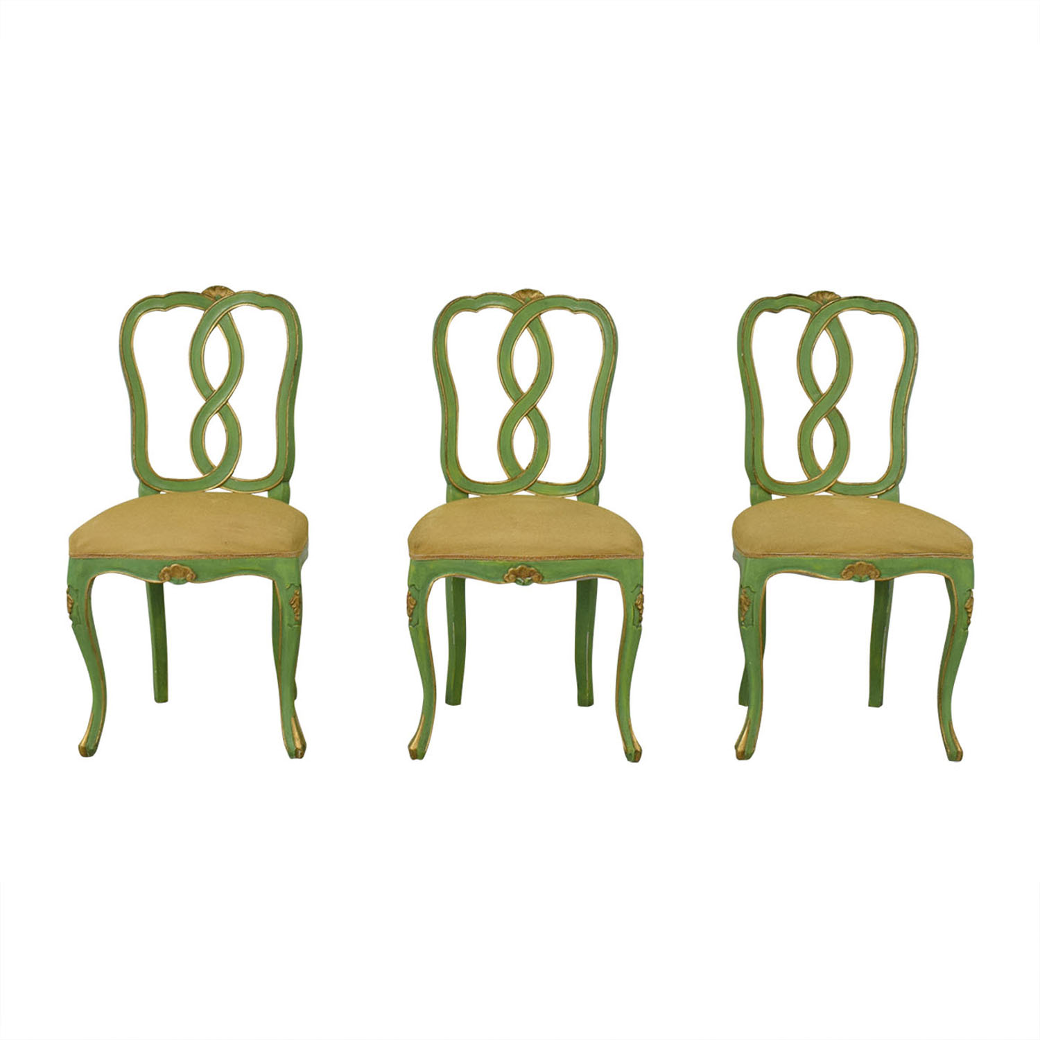 Bergdorf Goodman Bergdorf Goodman Green and Gold Chairs coupon