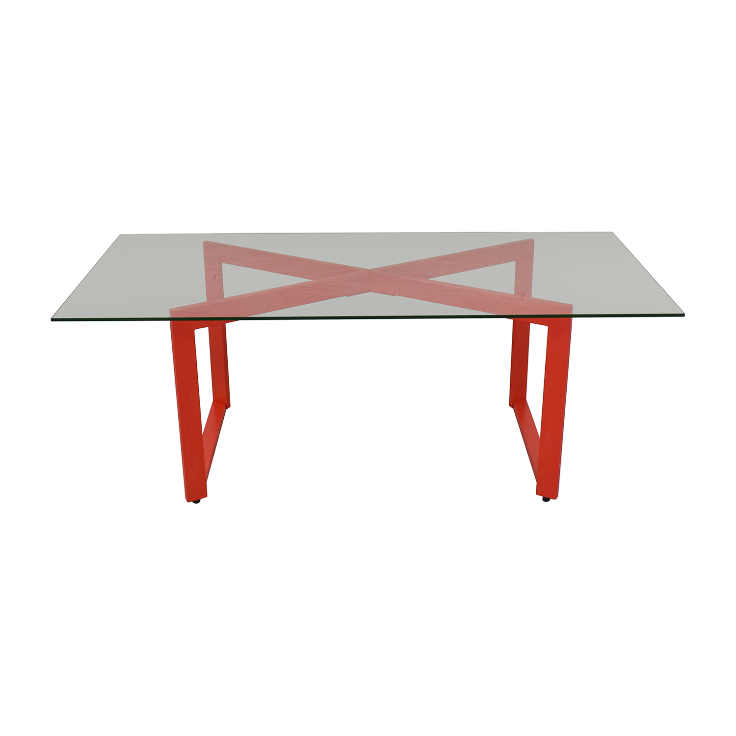 CB2 CB2 Glass Dining Table discount