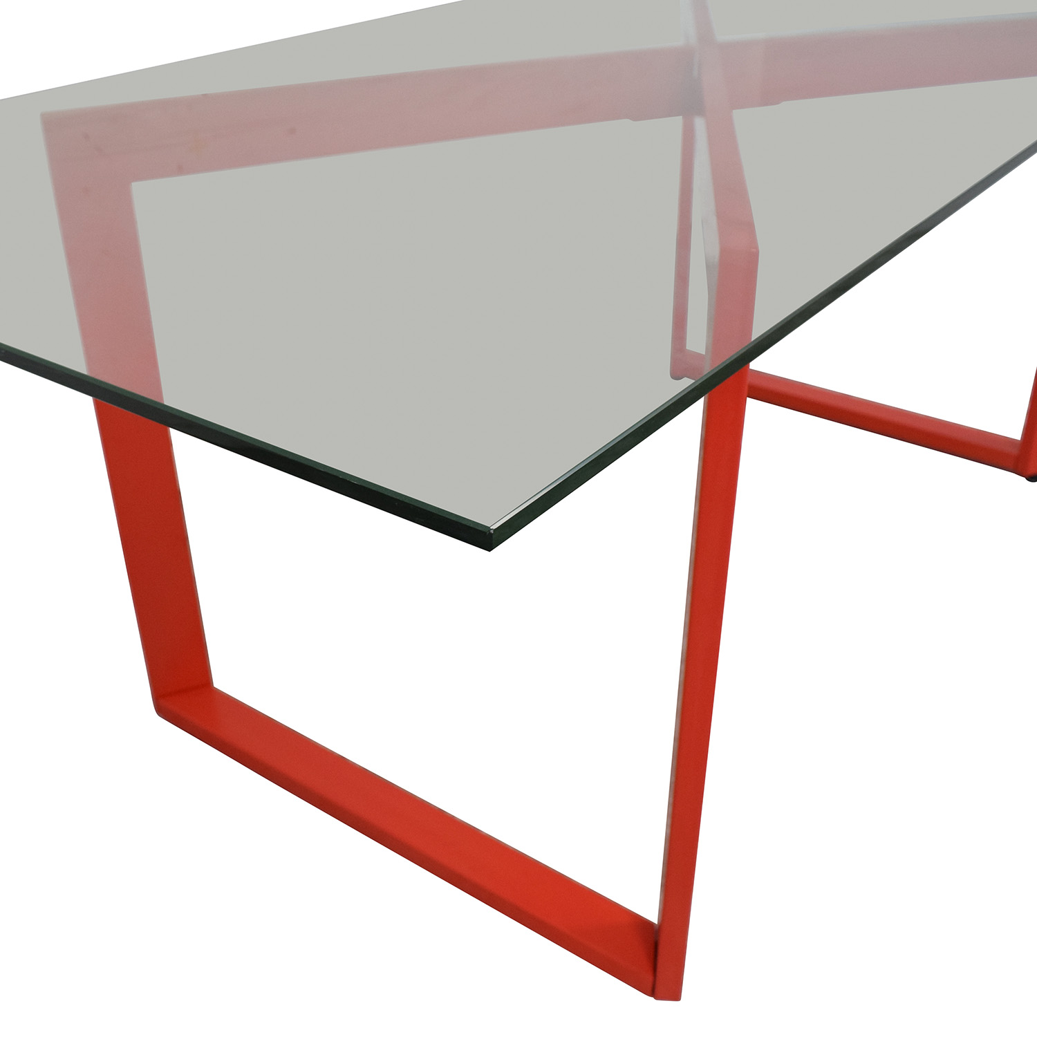 CB2 Glass Dining Table / Dinner Tables