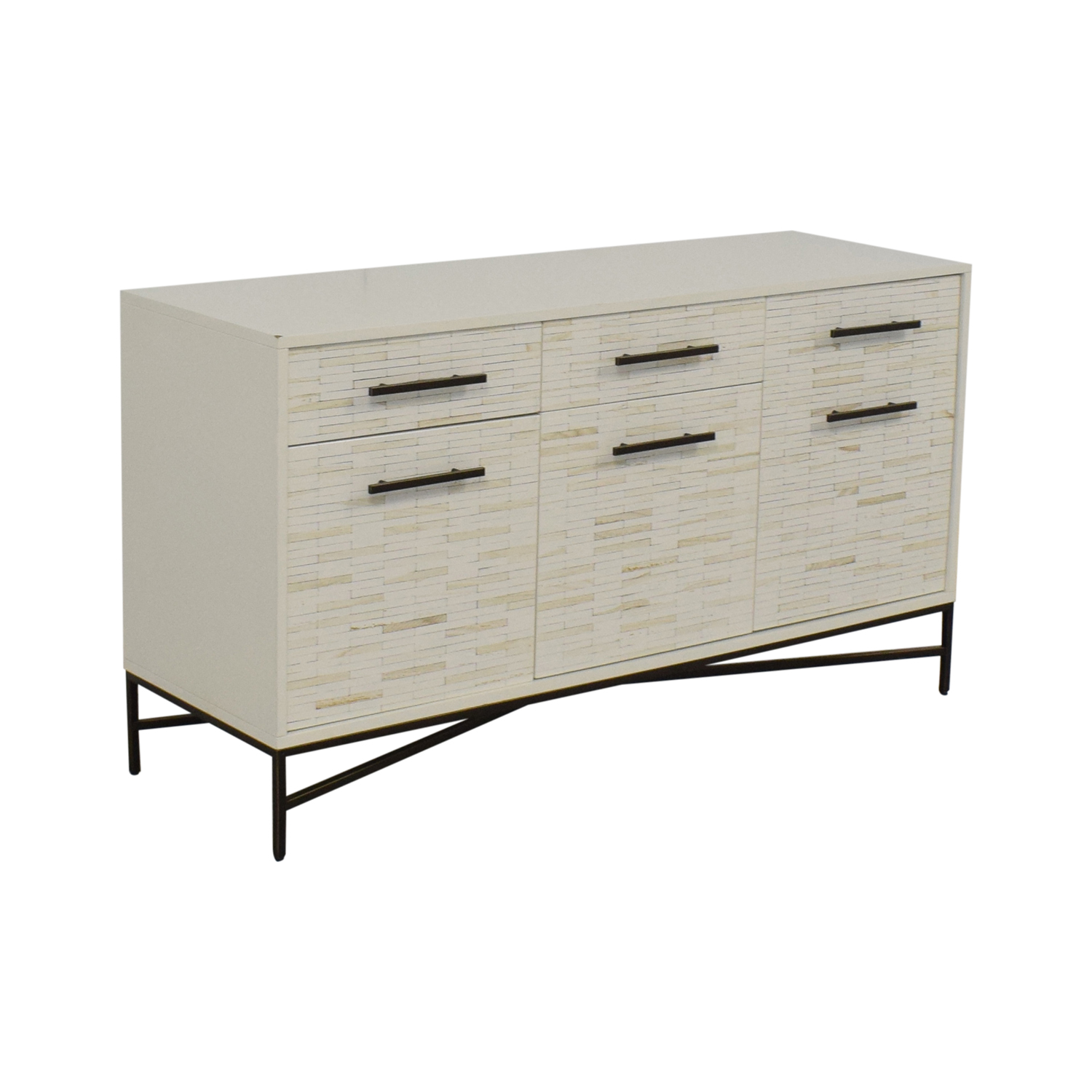 West Elm Tiled Media Console / Media Units
