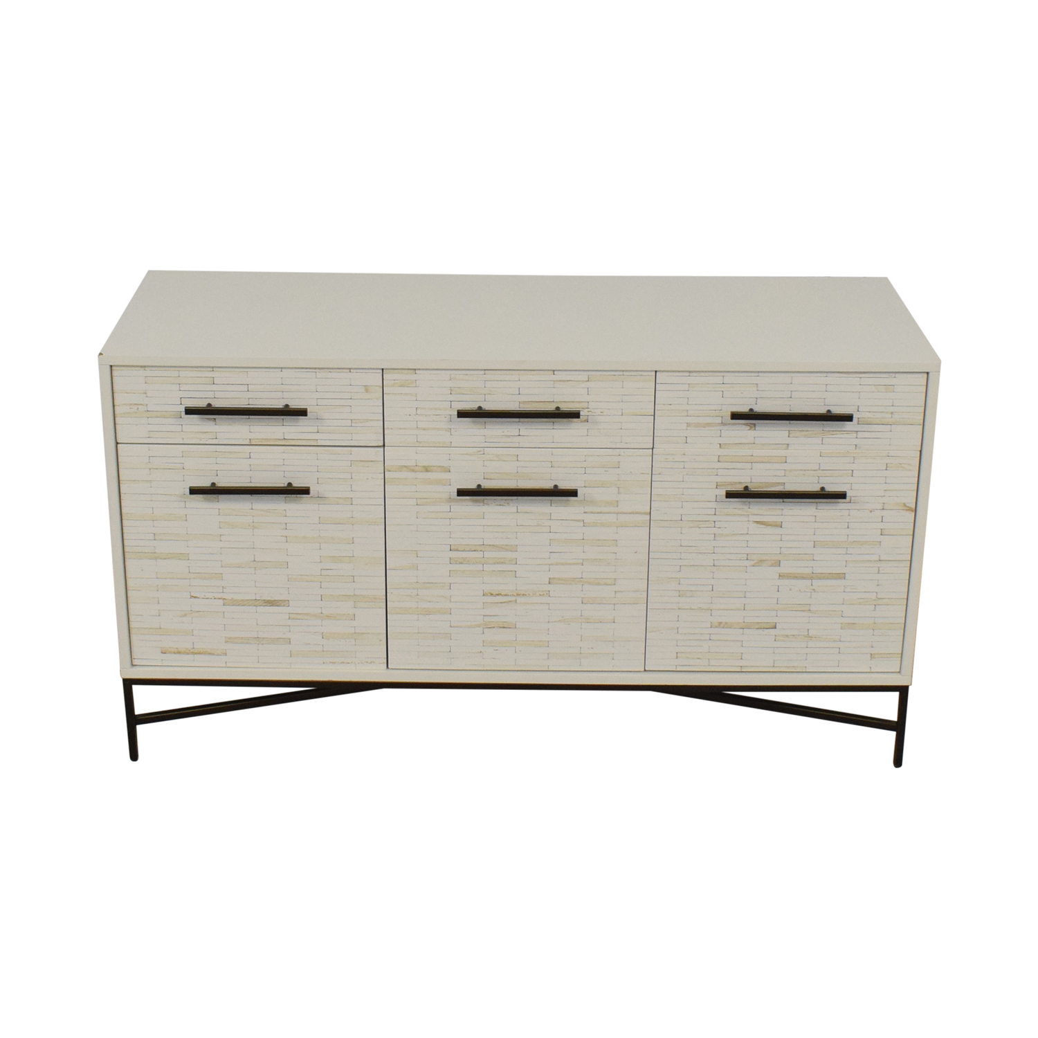 West Elm West Elm Tiled Media Console on sale