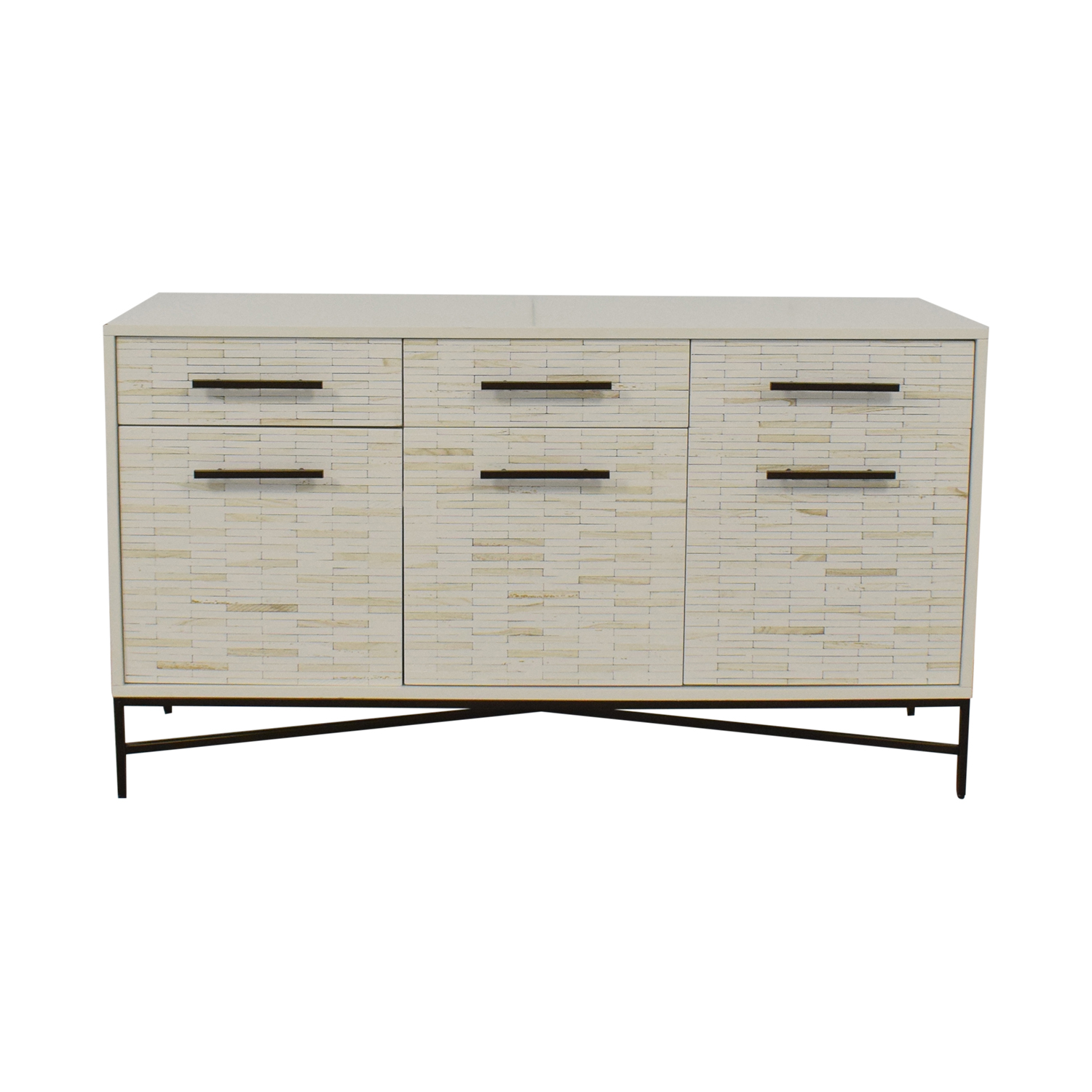 buy West Elm Tiled Media Console West Elm Media Units