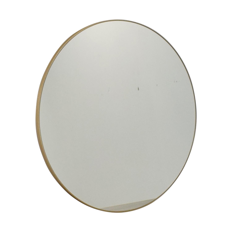 CB2 CB2 Infinity Round Brass Wall Mirror on sale