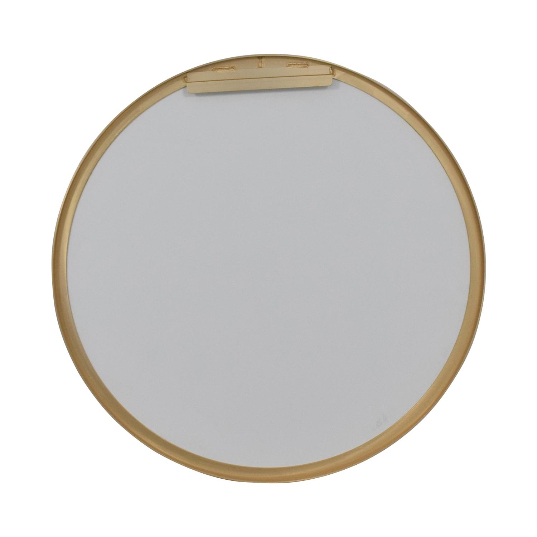 CB2 CB2 Infinity Round Brass Wall Mirror