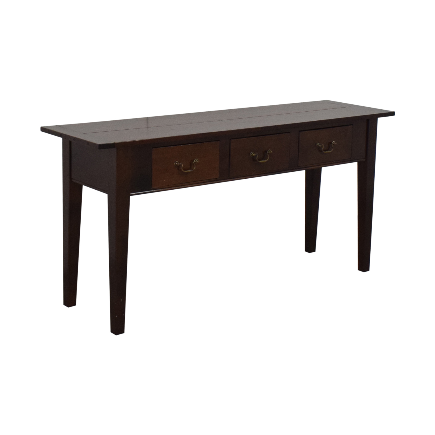 buy Dark Brown Three Drawer Entry Console  Accent Tables