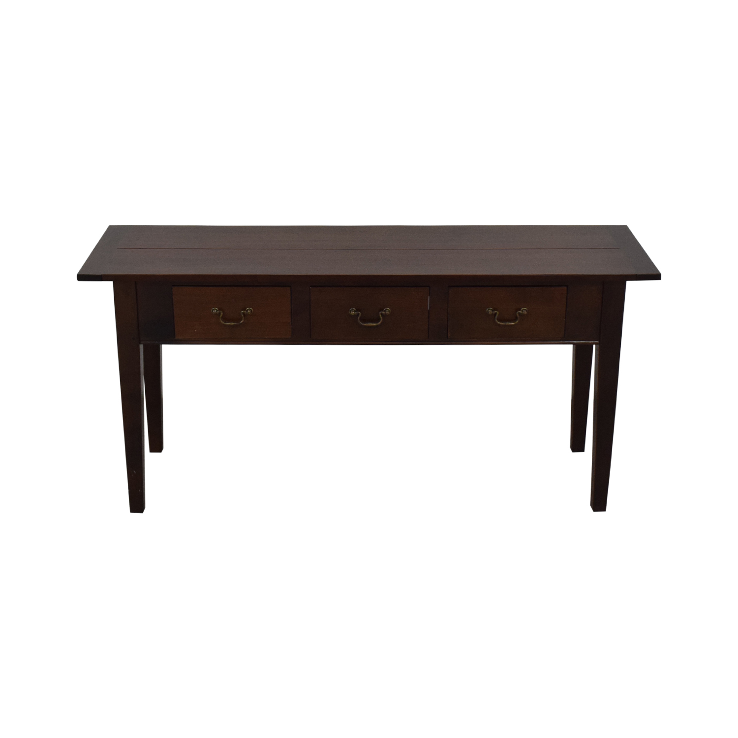 Dark Brown Three Drawer Entry Console second hand