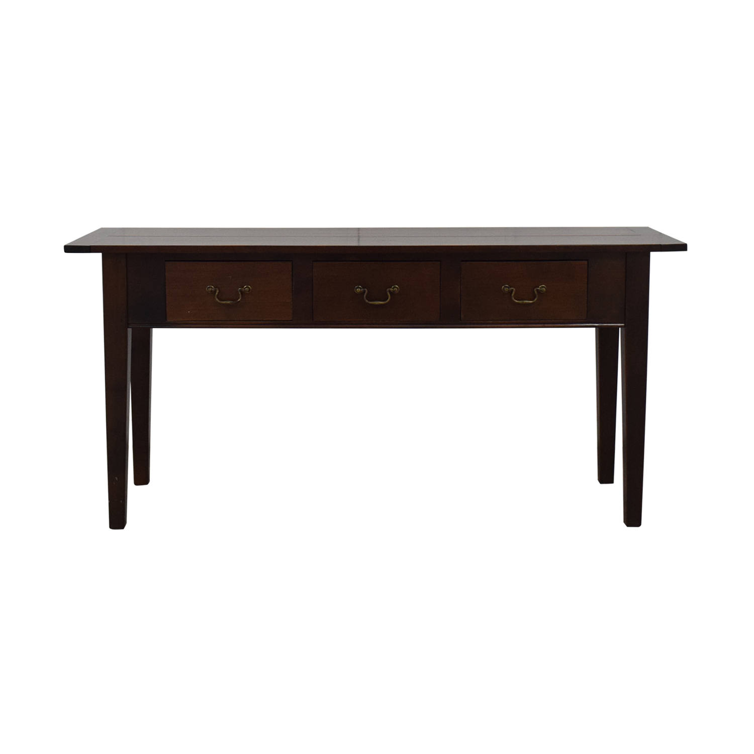 Dark Brown Three Drawer Entry Console brown