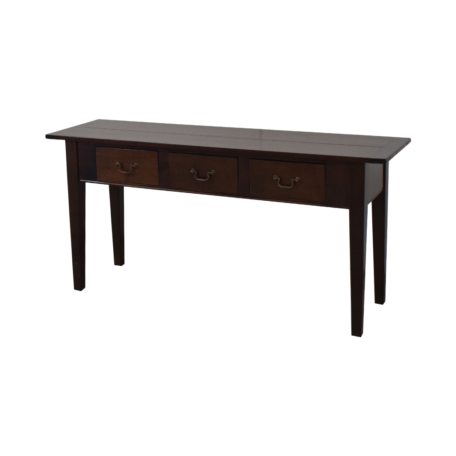 Dark Brown Three Drawer Entry Console sale