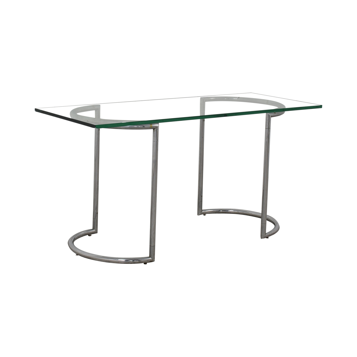 Glass and Chrome Dining Table discount
