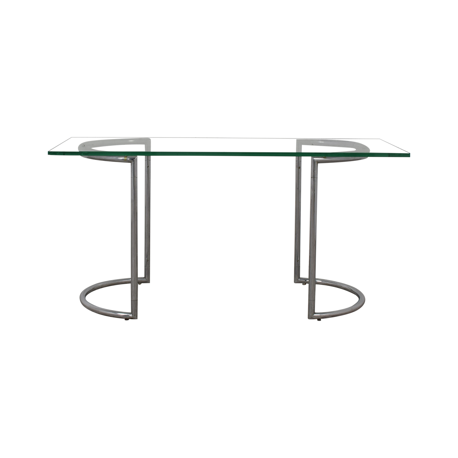 Glass and Chrome Dining Table glass