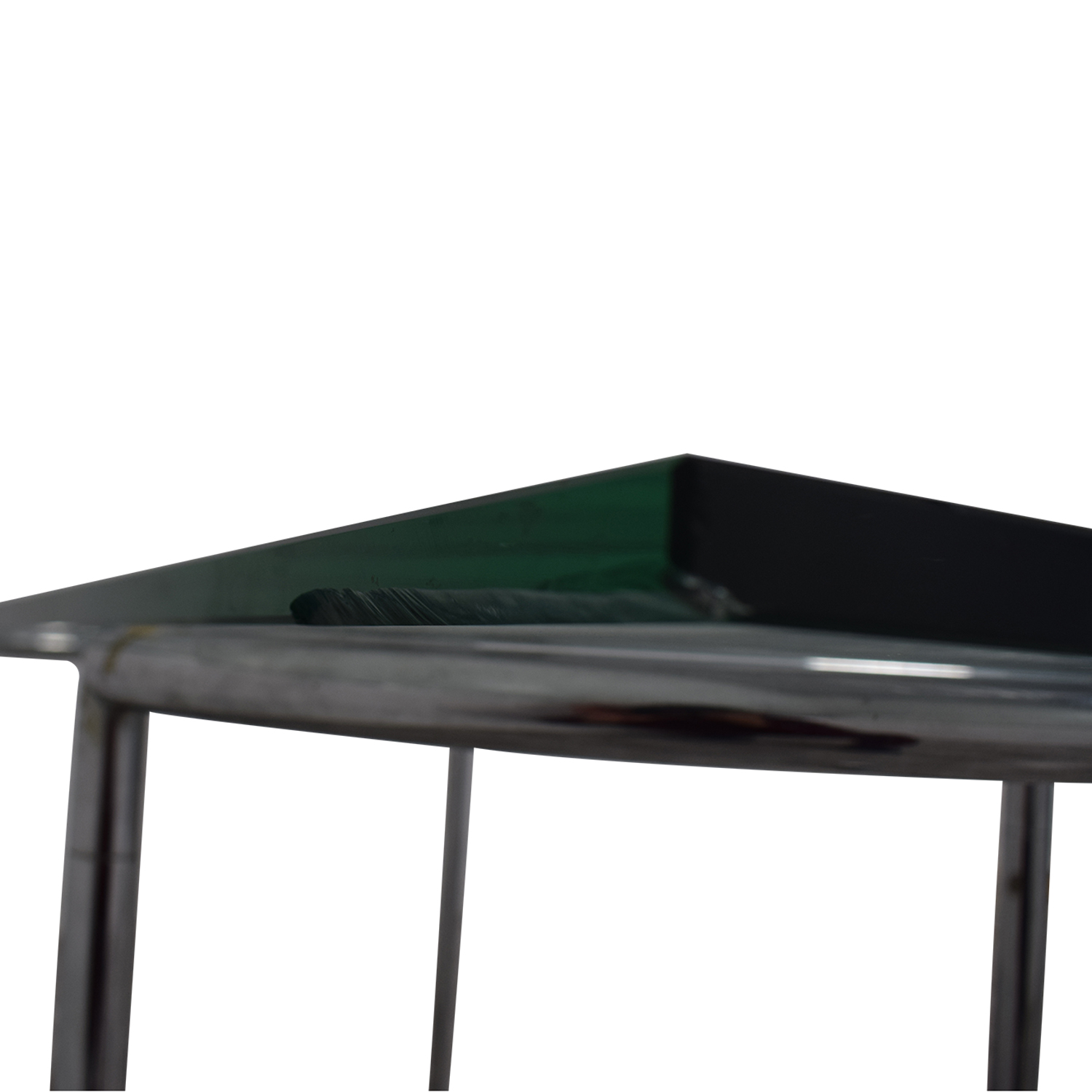 shop Glass and Chrome Dining Table  Tables