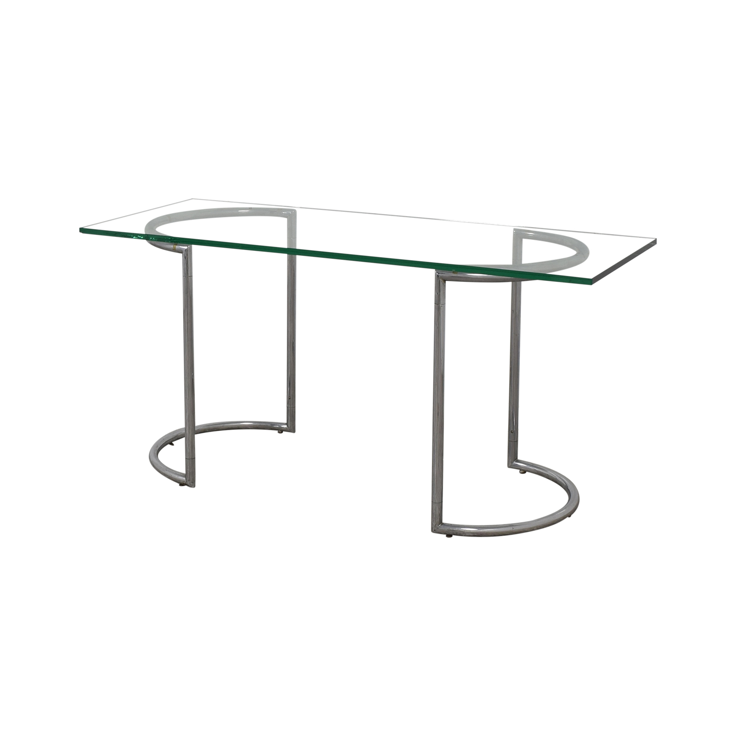 shop Glass and Chrome Dining Table  Dinner Tables