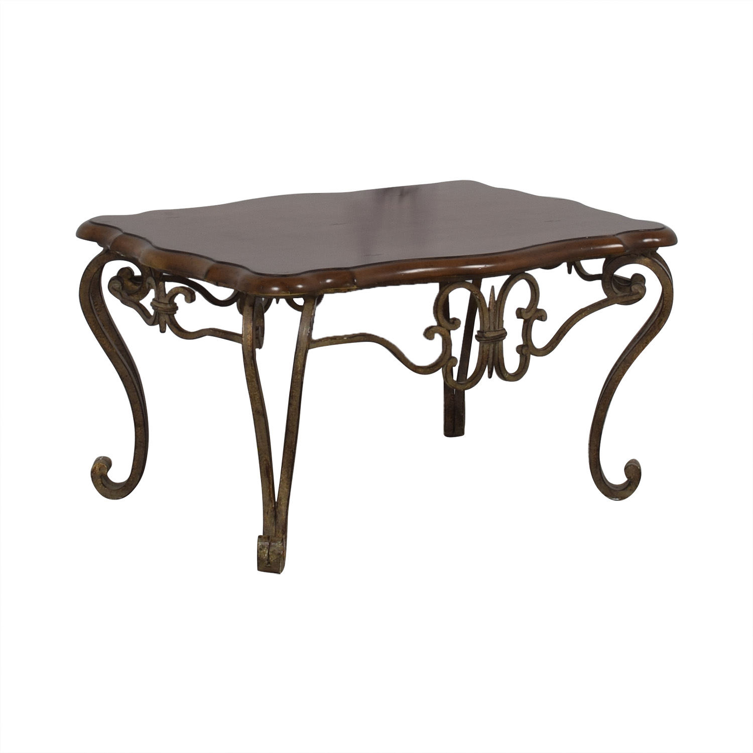 buy Wood and Metal Coffee Table  Coffee Tables
