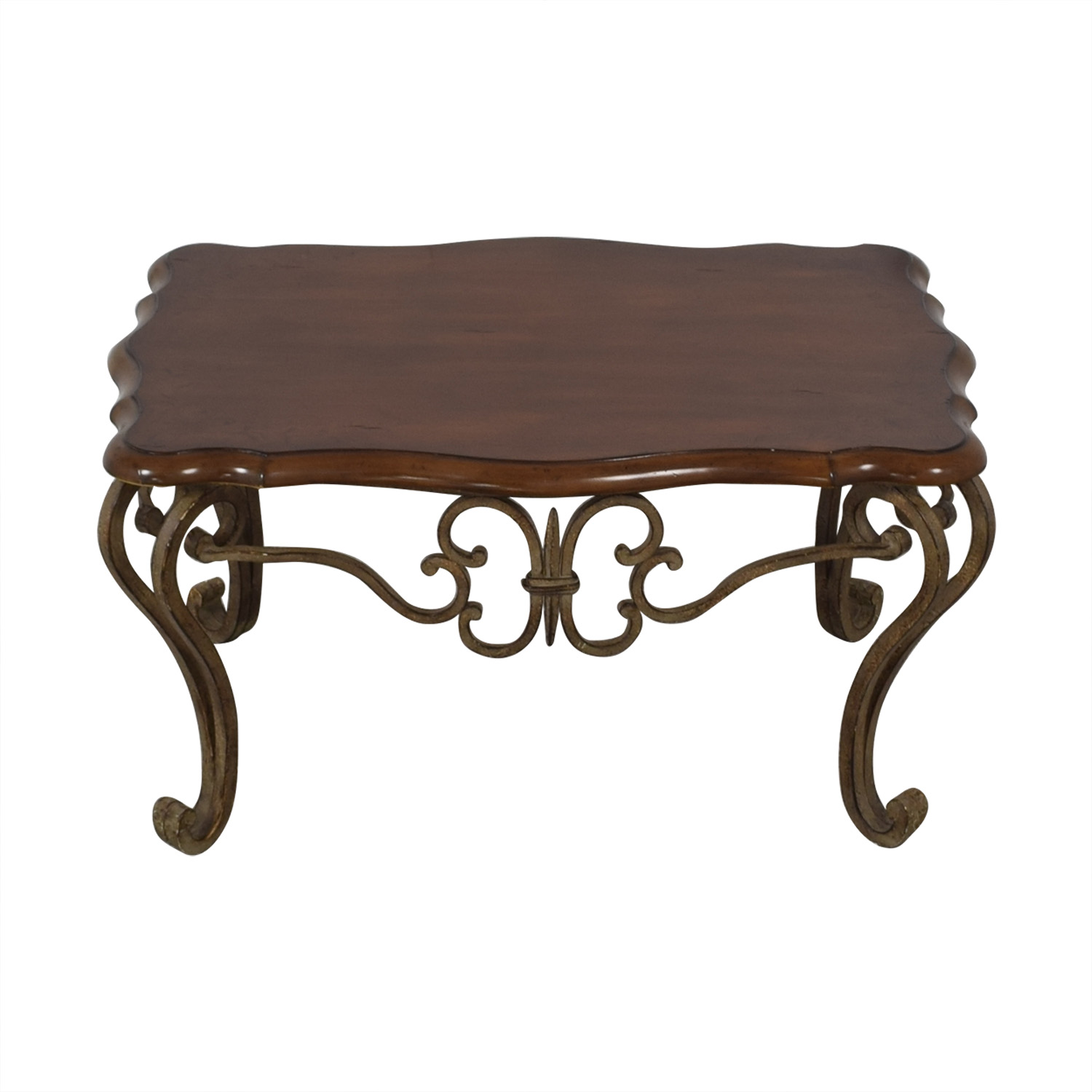 shop Wood and Metal Coffee Table  Coffee Tables