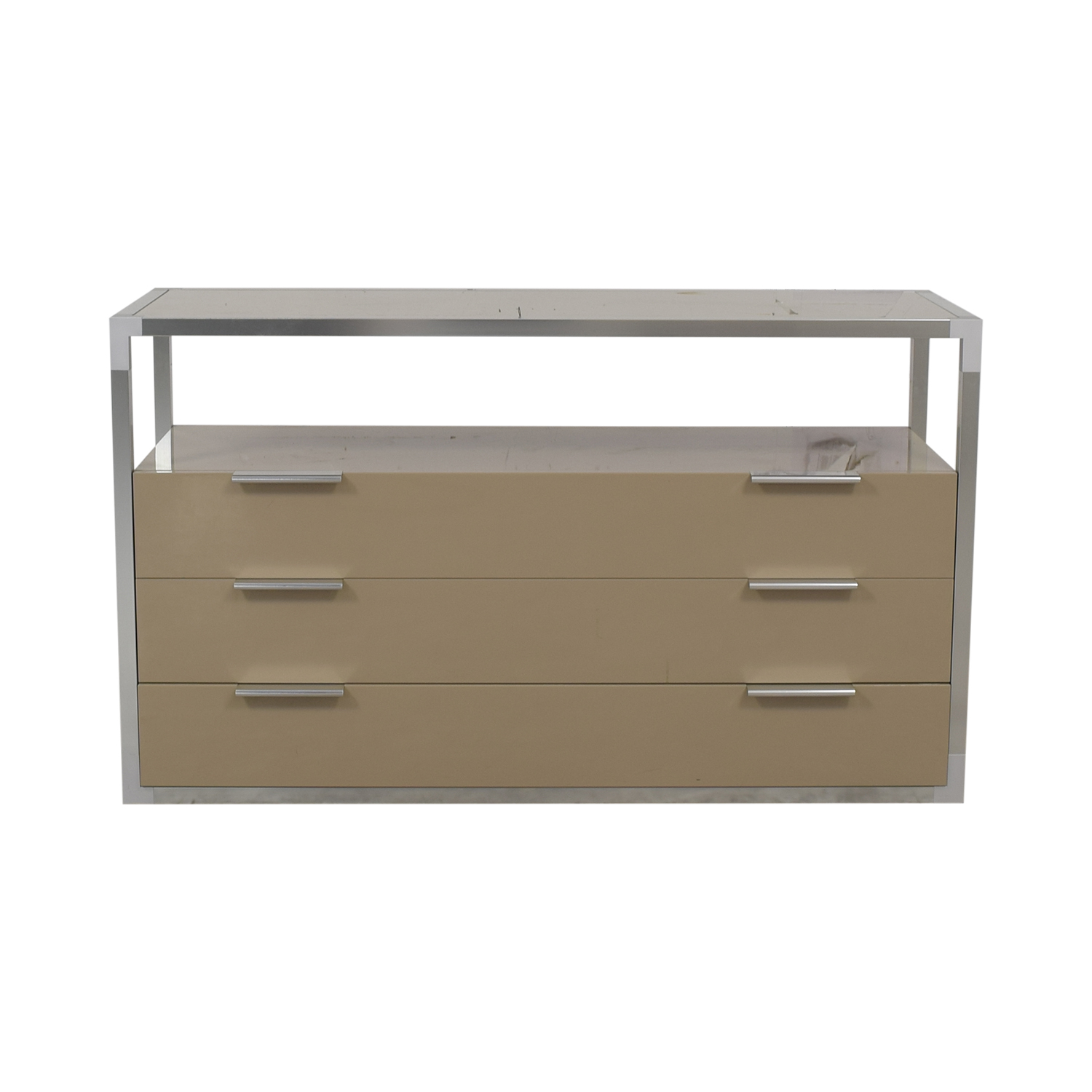 Ligne Roset Ligne Roset Media Console with Three Drawers tan