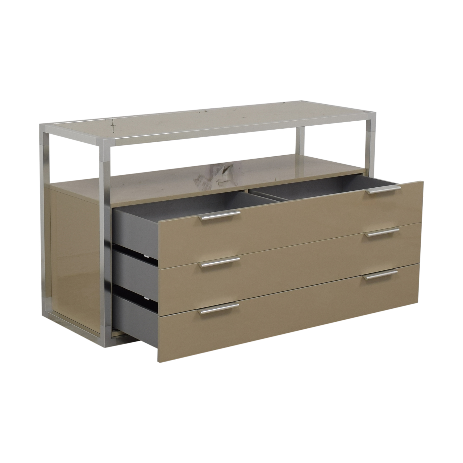 Ligne Roset Media Console with Three Drawers / Storage
