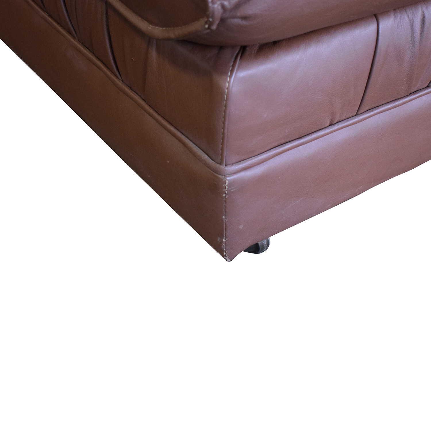 Emerson Leather Emerson Leather Sectional Sofa and Ottoman