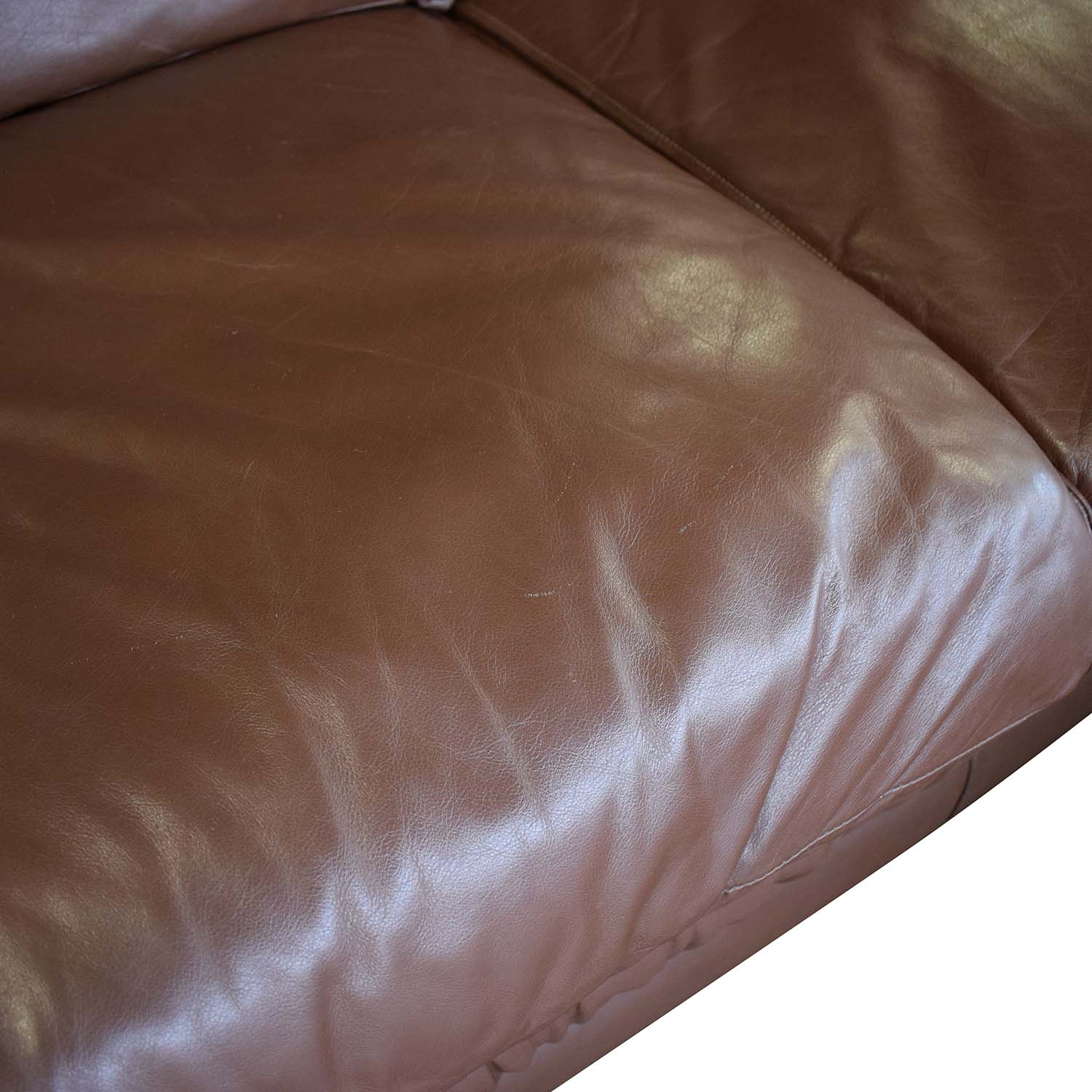 Emerson Leather Sectional Sofa and Ottoman / Sectionals