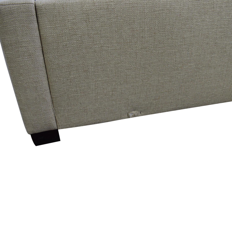 Bernhardt Cooper Upholstered Nailhead Winghead Queen Bed sale
