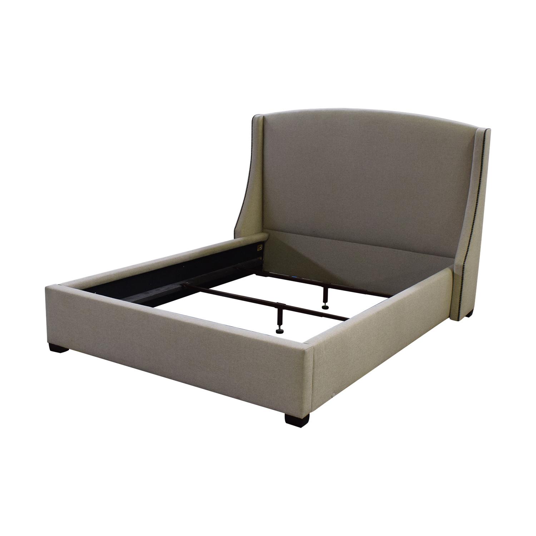 buy Bernhardt Cooper Upholstered Nailhead Winghead Queen Bed Bernhardt Bed Frames