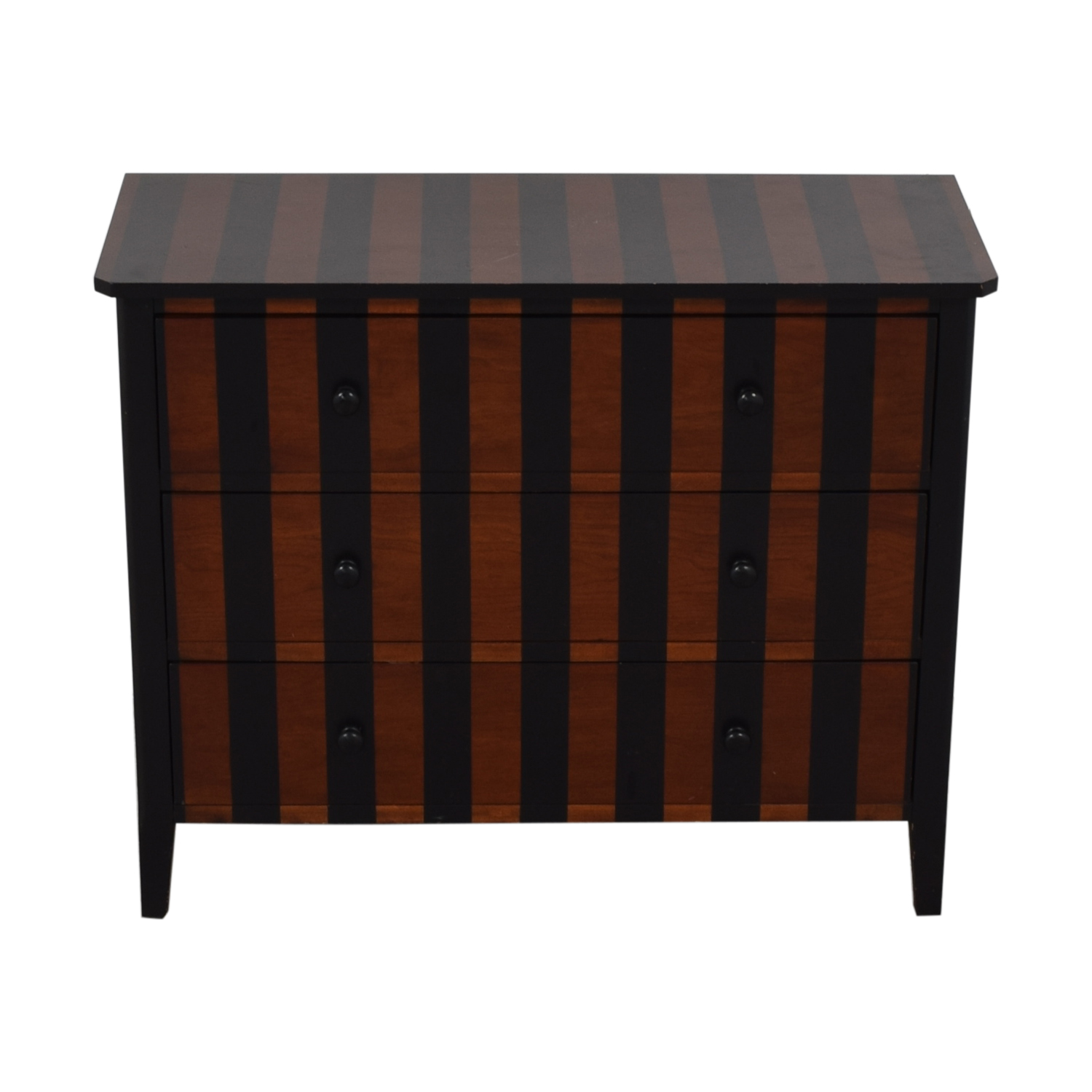 Bassett Furniture Bassett Furniture Striped Three-Drawer Dresser dimensions