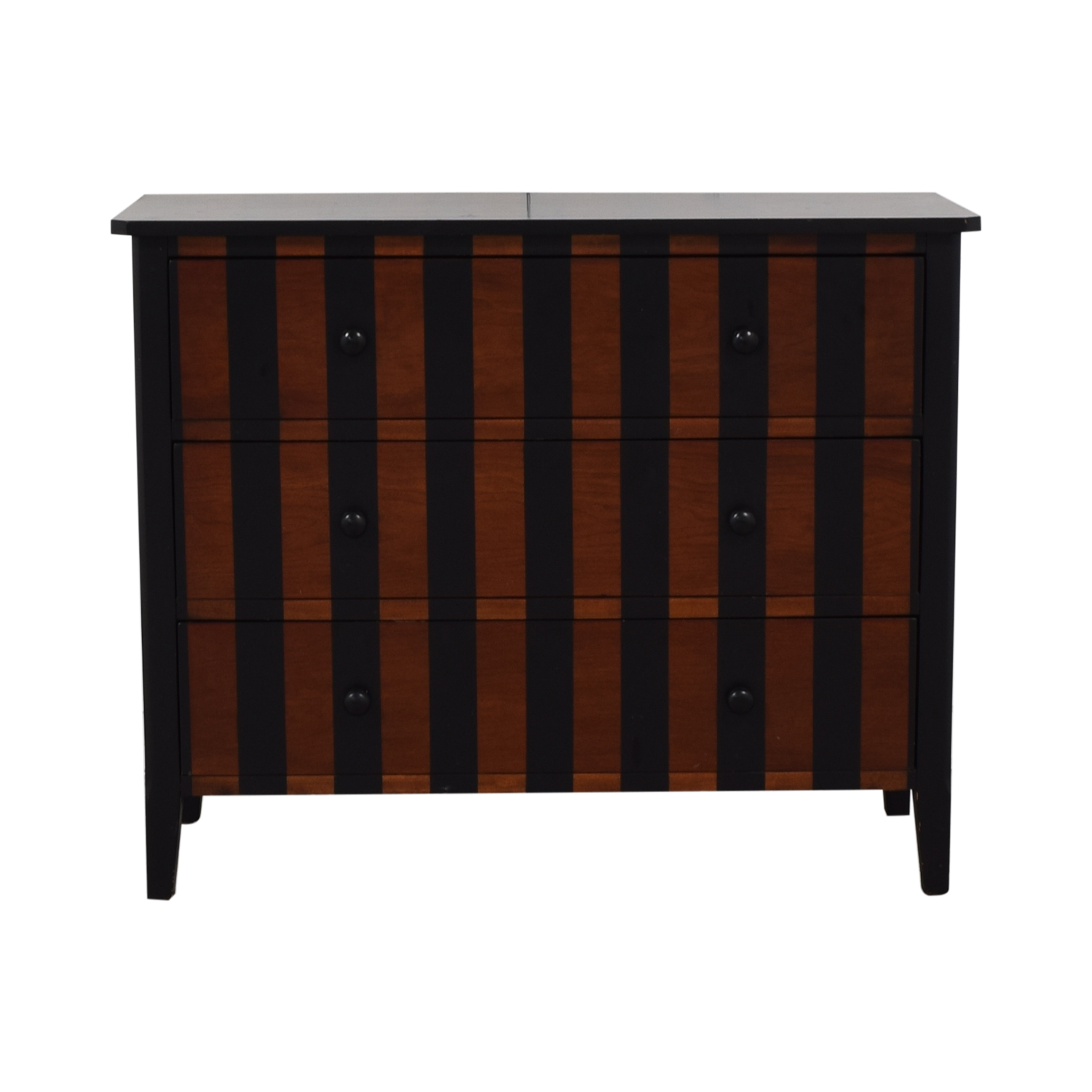 Bassett Furniture Bassett Furniture Striped Three-Drawer Dresser for sale
