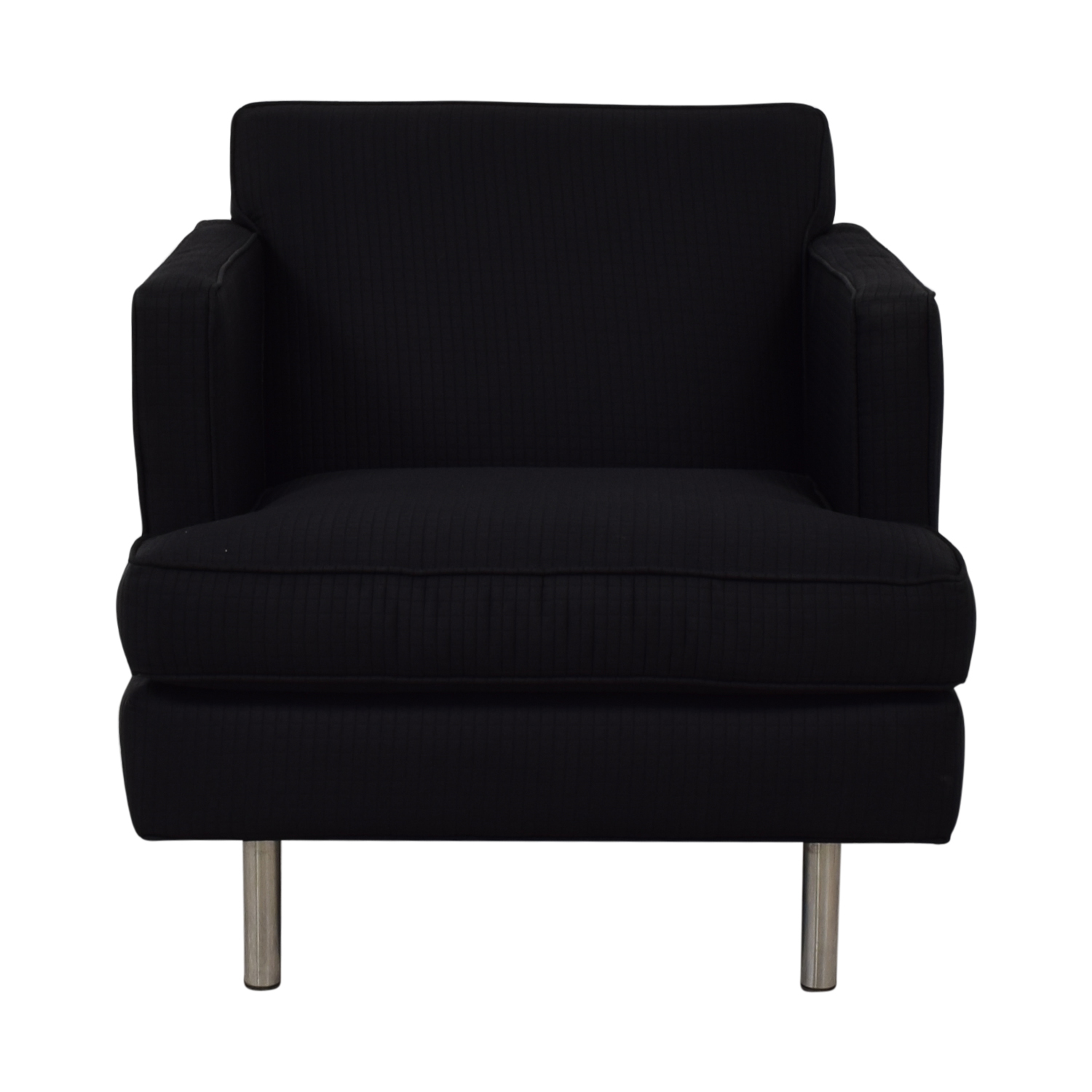 Modern Black Accent Chair Black
