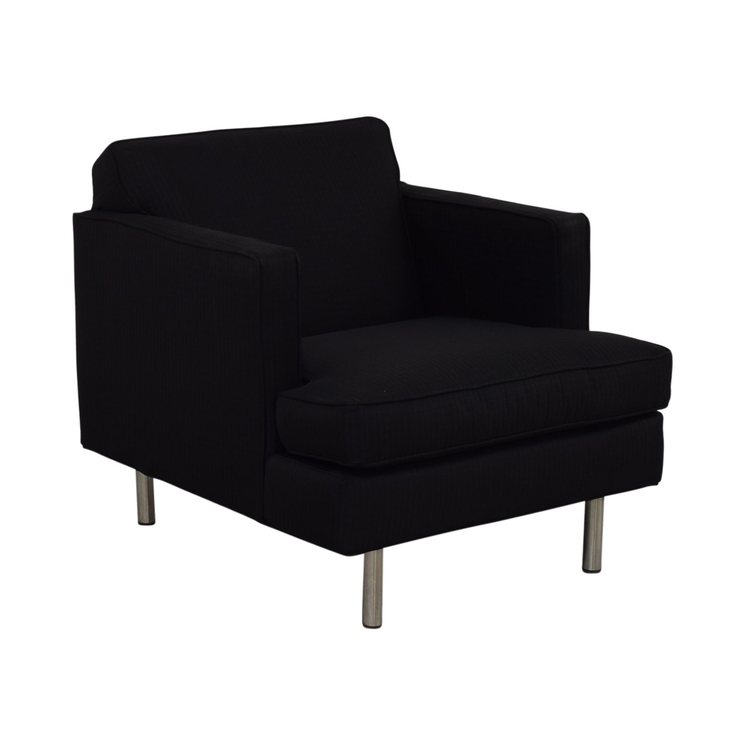 84% OFF   Modern Black Accent Chair / Chairs