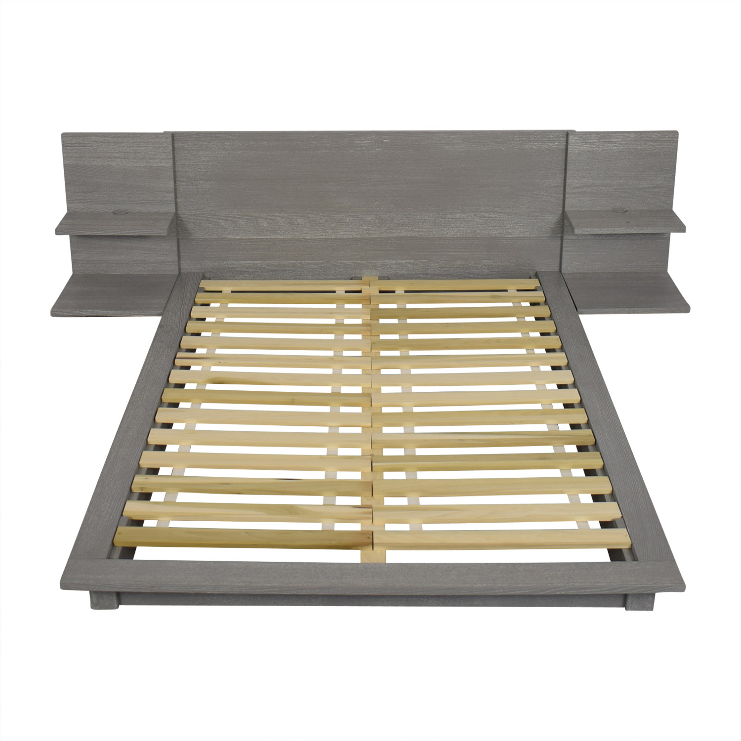 CB2 CB2 Andes Grey Queen Bed Frame for sale