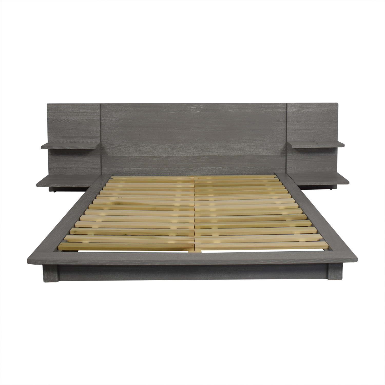 CB2 CB2 Andes Grey Queen Bed Frame dimensions