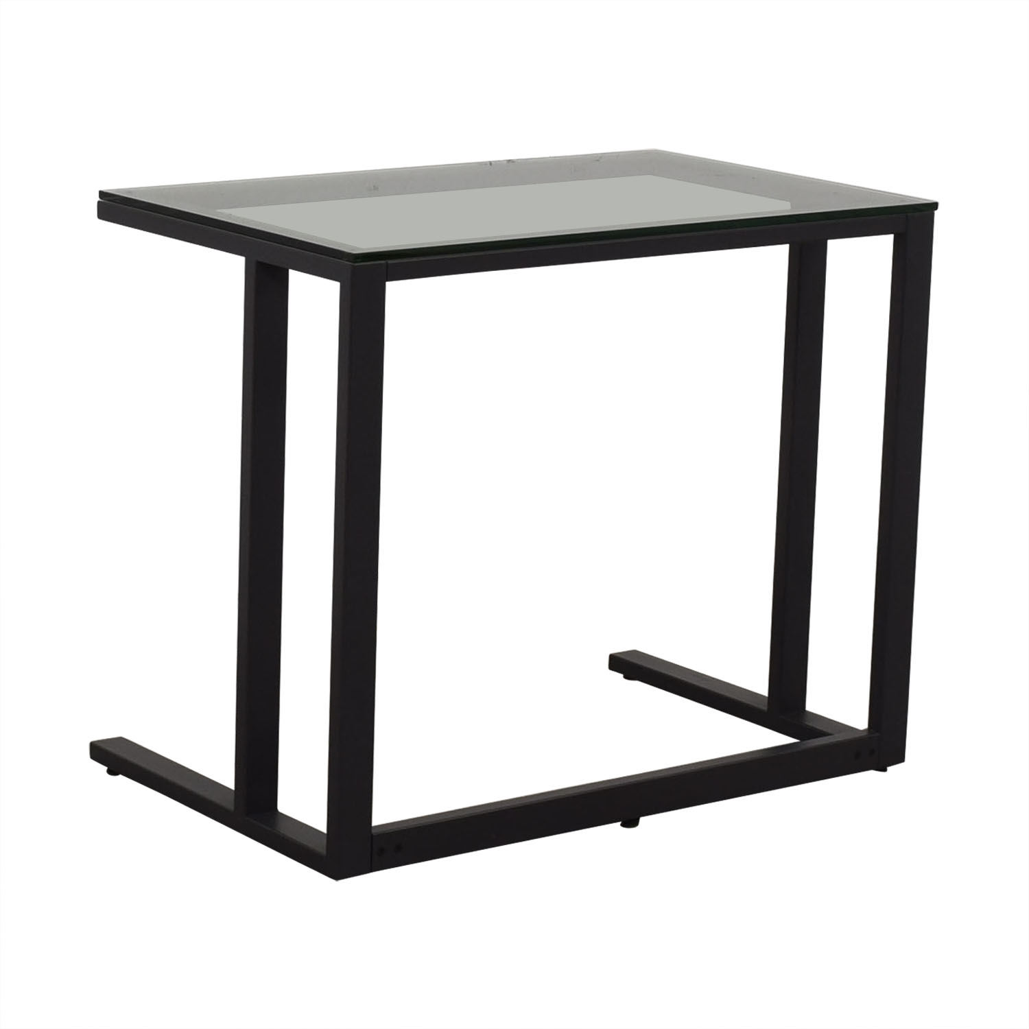 shop Crate & Barrel Glass Top Desk Crate & Barrel Tables
