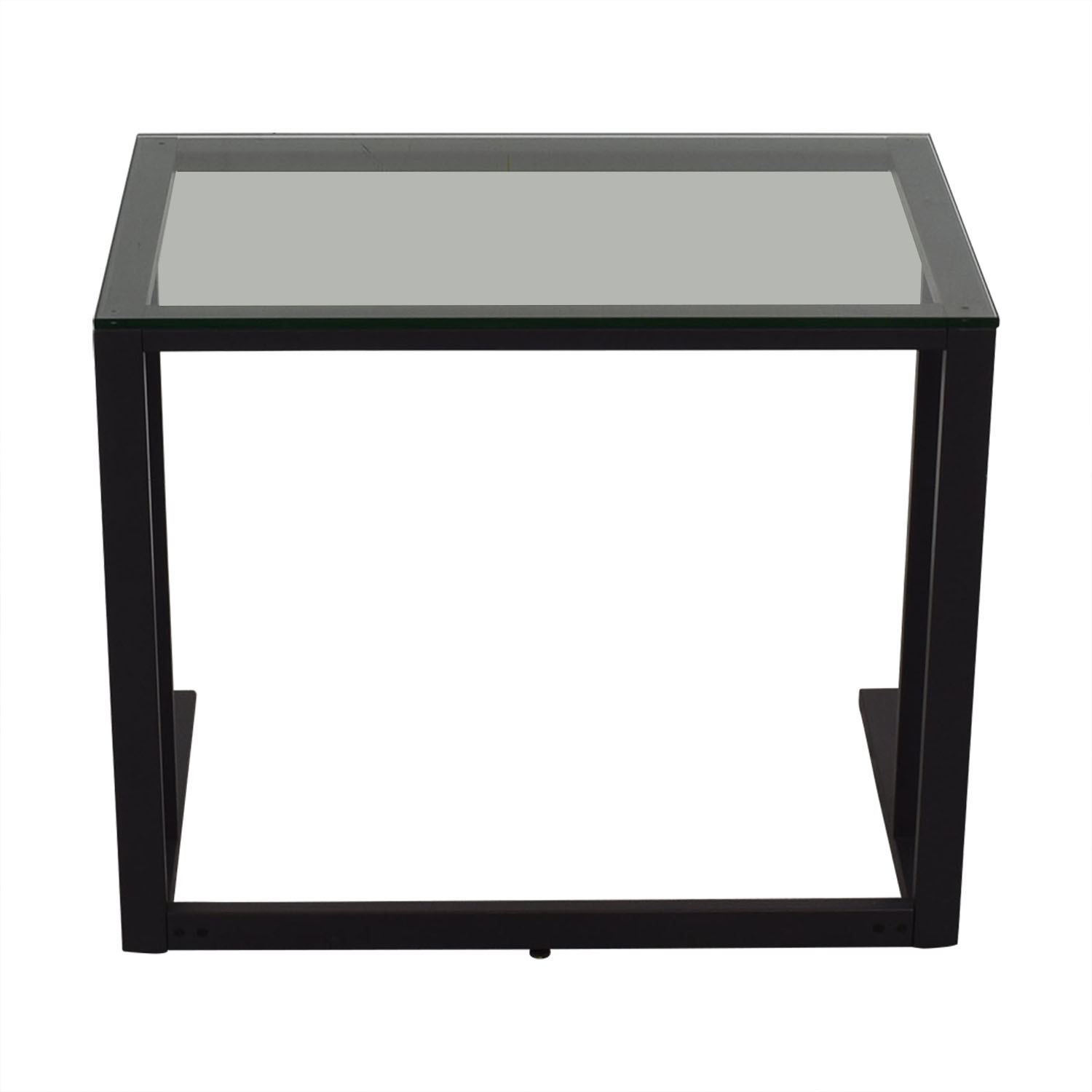 buy Crate & Barrel Glass Top Desk Crate & Barrel Home Office Desks