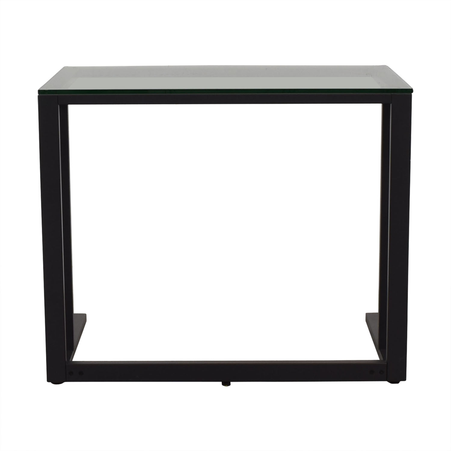 buy Crate & Barrel Glass Top Desk Crate & Barrel