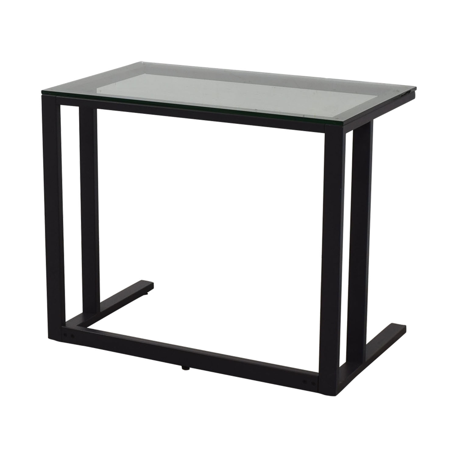 Crate & Barrel Crate & Barrel Glass Top Desk for sale