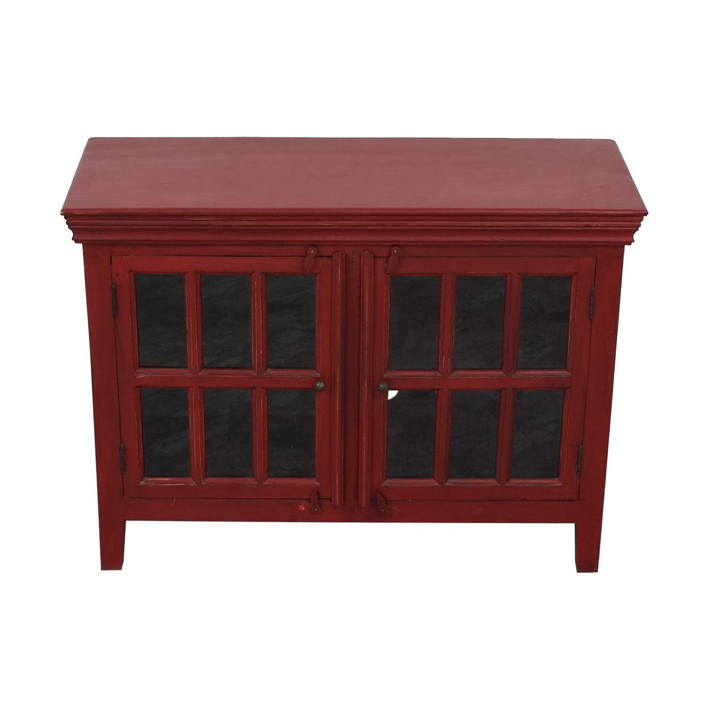 buy Crate & Barrel Rojo Red Media Storage Cabinet Crate & Barrel Storage