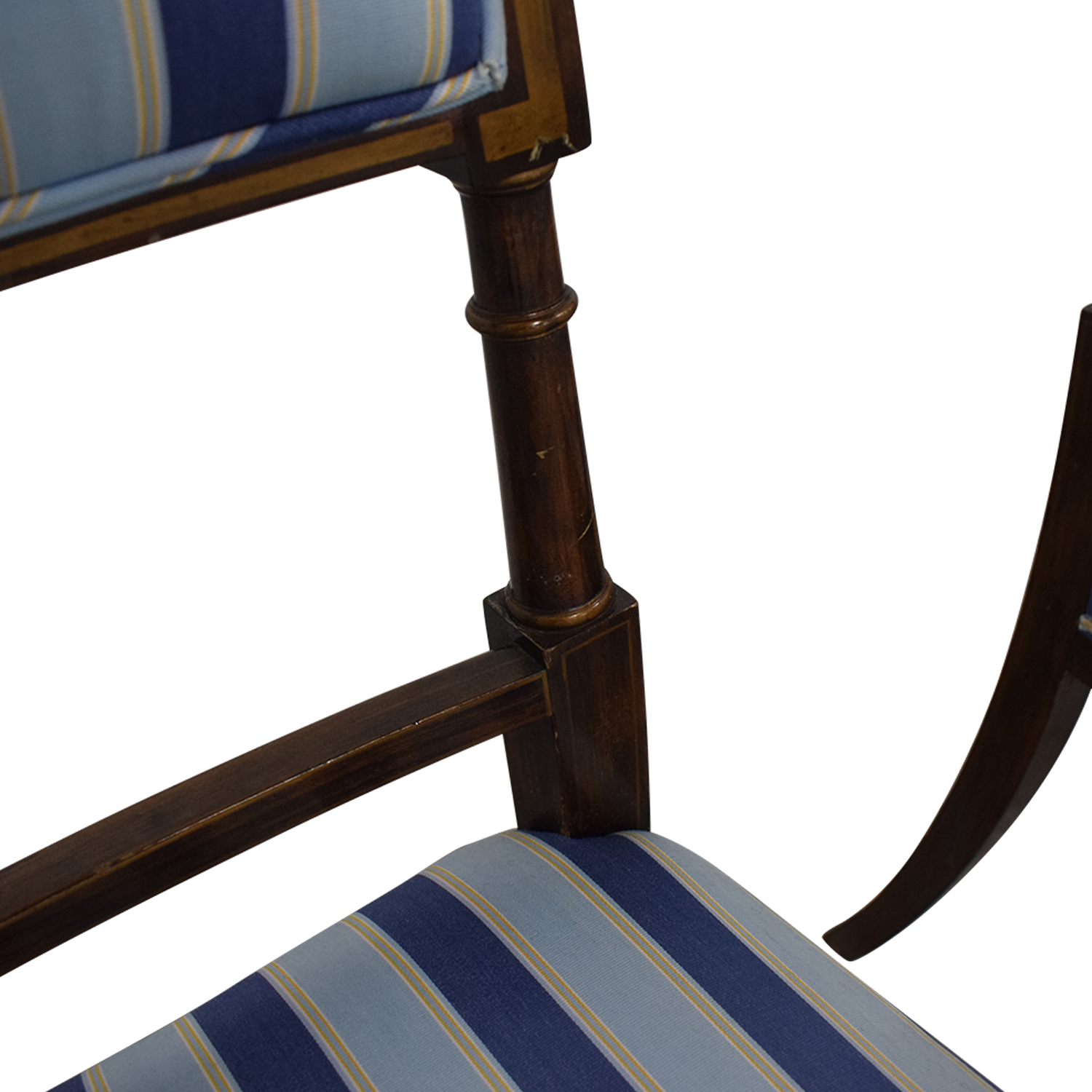 Hickory Chair Hickory Chair Striped Blue Dining Chairs coupon
