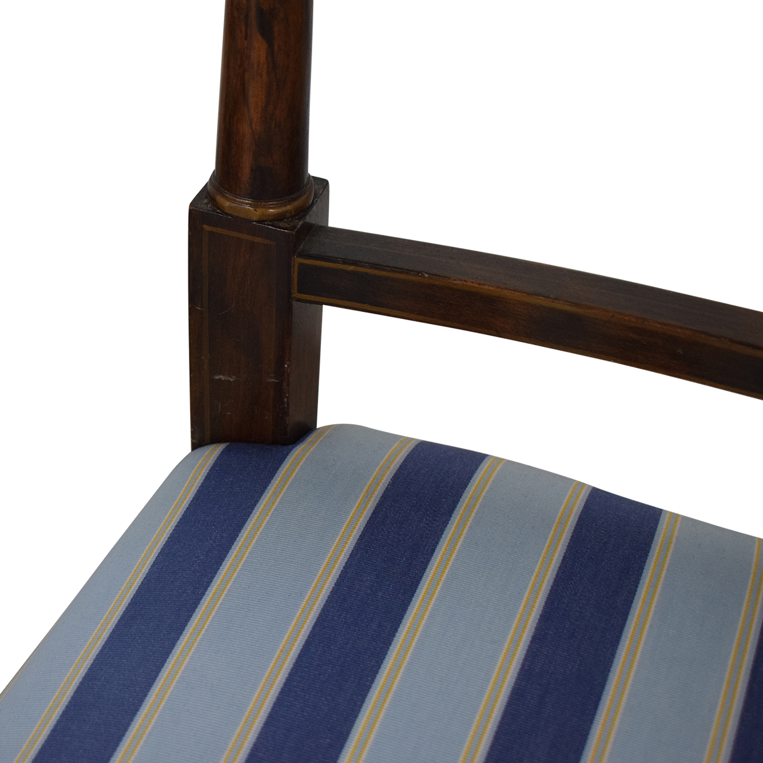 buy Hickory Chair Striped Blue Dining Chairs Hickory Chair Chairs