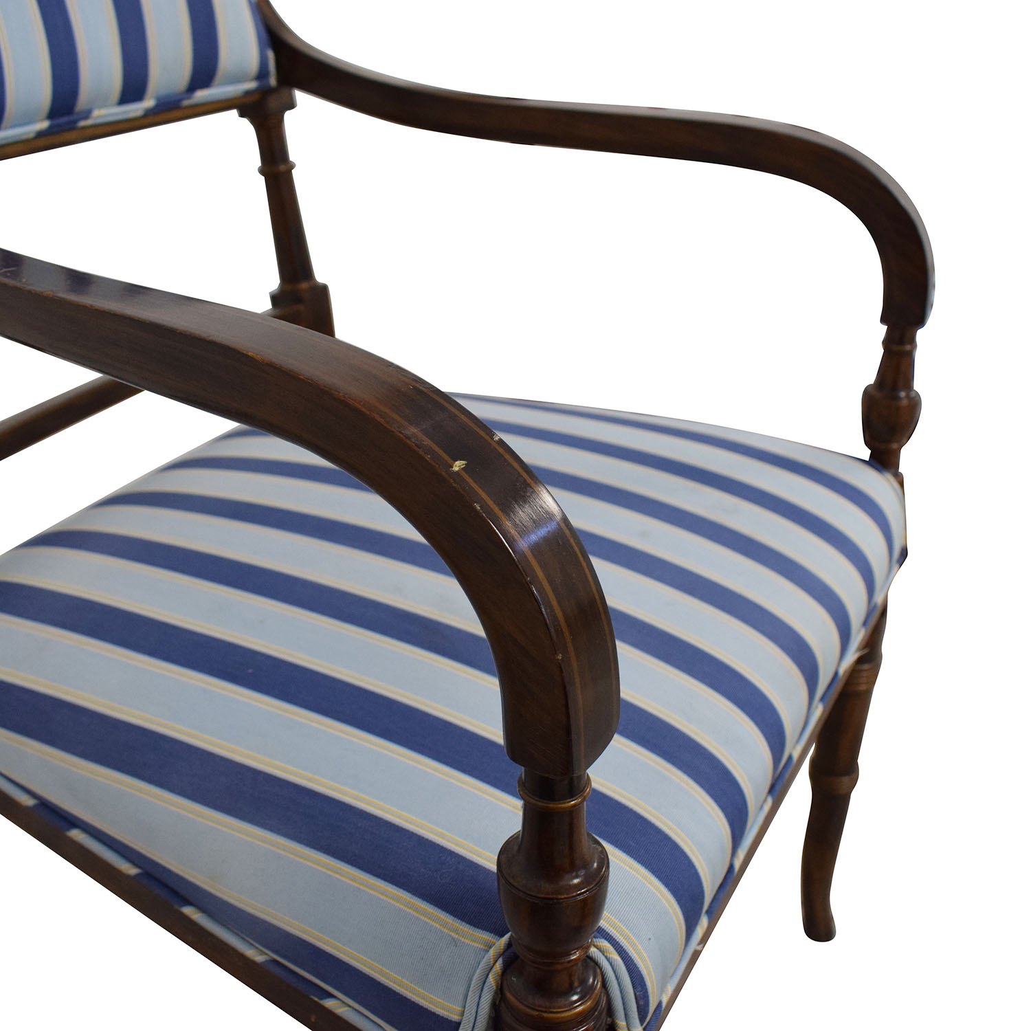 Hickory Chair Striped Blue Dining Chairs / Dining Chairs