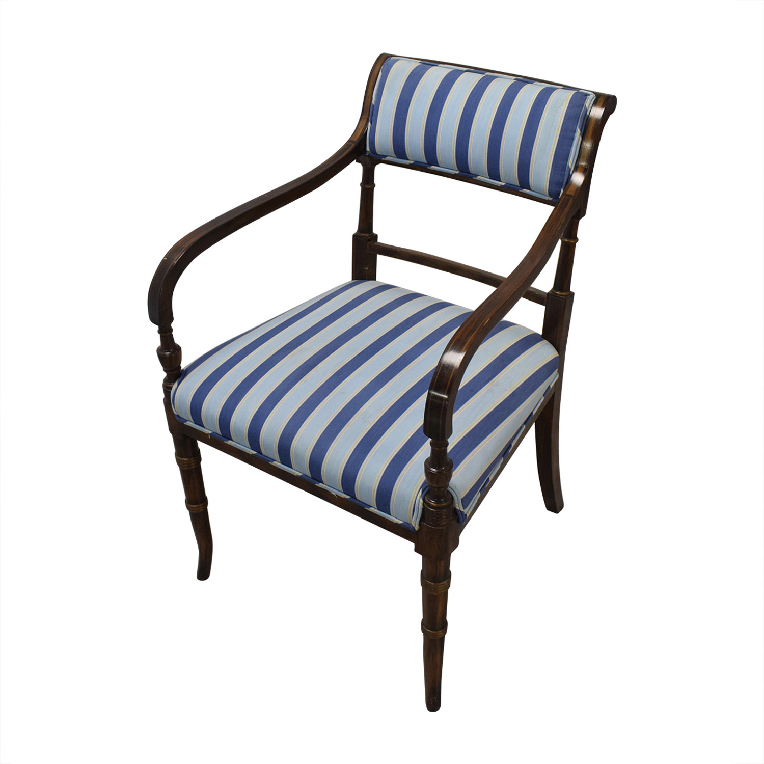 shop Hickory Chair Striped Blue Dining Chairs Hickory Chair Chairs