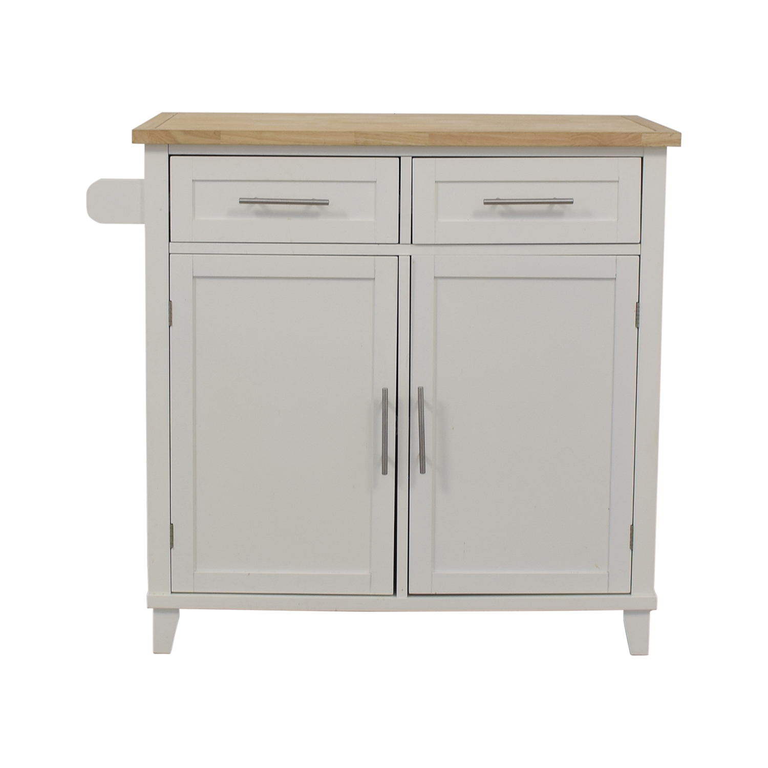 Kitchen Island Storage Cabinet white and brown