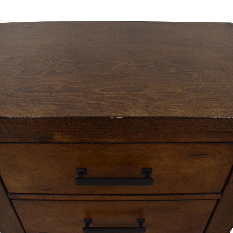 Loon Peak Cergy Two-Drawer Nightstands / Tables