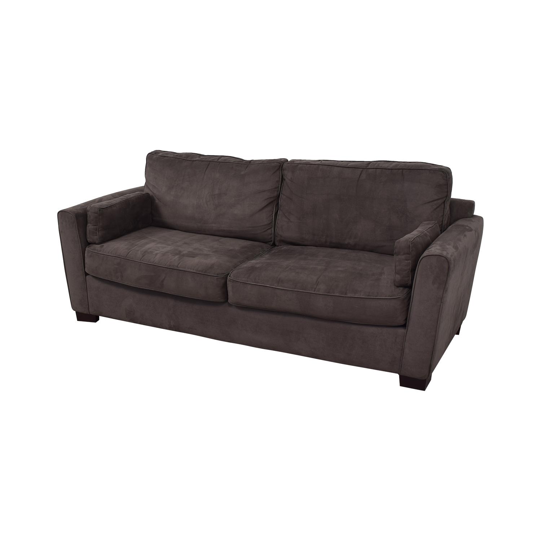 84% OFF - Bloomingdale\'s Bloomingdale\'s Microsuede Two Cushion Sofa ...